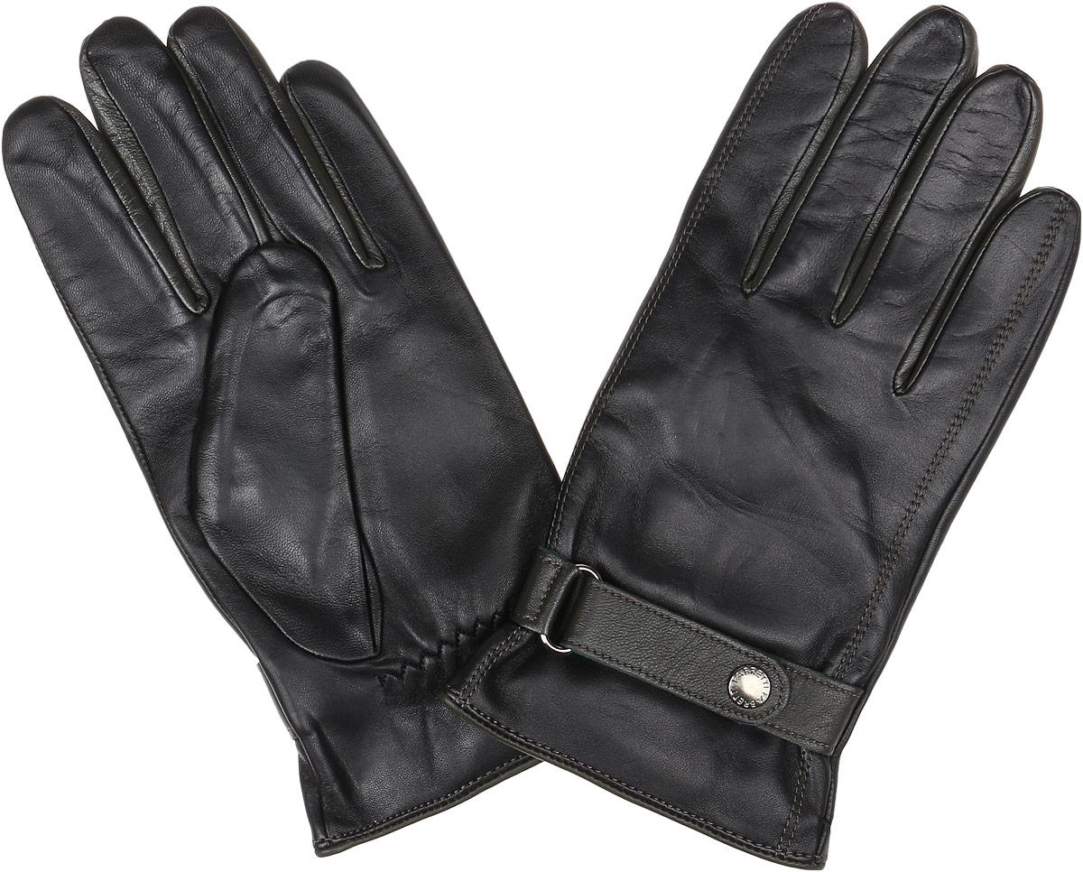 S1.31-1 blackМужские перчатки Fabretti Touch Screen не только защитят ваши руки от холода, но и станут незаменимым аксессуаром. Модель изготовлена из натуральной кожи на подкладке из шерсти с добавлением кашемира. Современные технологии обработки кожи позволяют работать с любыми сенсорными дисплеями, не снимая перчатки. Модель дополнена небольшим хлястиком на кнопке, а также перчатки имеют строчки-стежки на запястье, которые лучше фиксируют модель на руке. Перчатки Fabretti станут завершающим и подчеркивающим элементом вашего стиля.