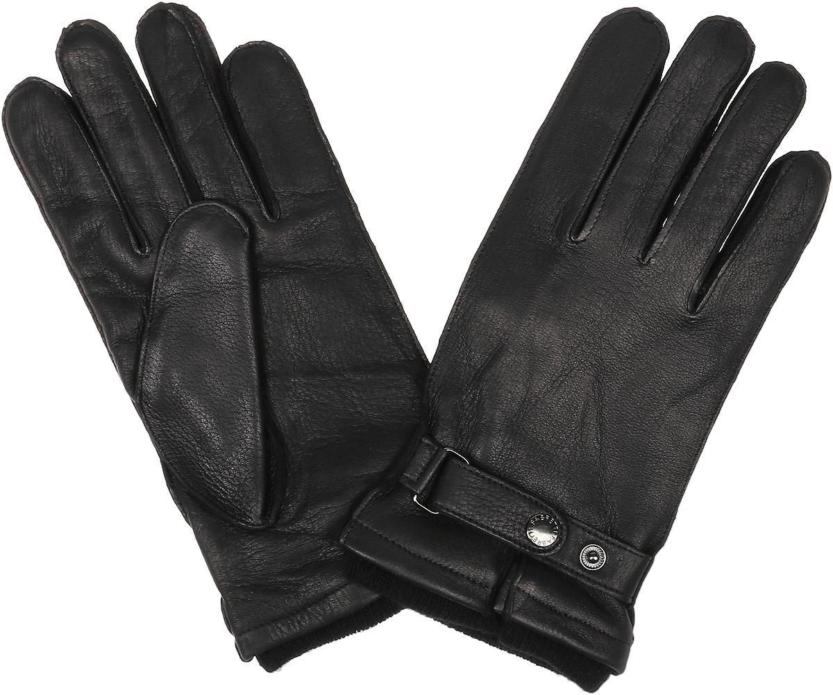 Перчатки22.28-1 blackСтильные мужские перчатки Fabretti не только защитят ваши руки, но и станут великолепным украшением. Перчатки выполнены из натуральной кожи ягненка, а их подкладка - из высококачественной шерсти с добавлением кашемира. Модель дополнена хлястиком с застёжкой-кнопкой для регулирования размера перчатки в области запястья. Стильный аксессуар для повседневного образа.