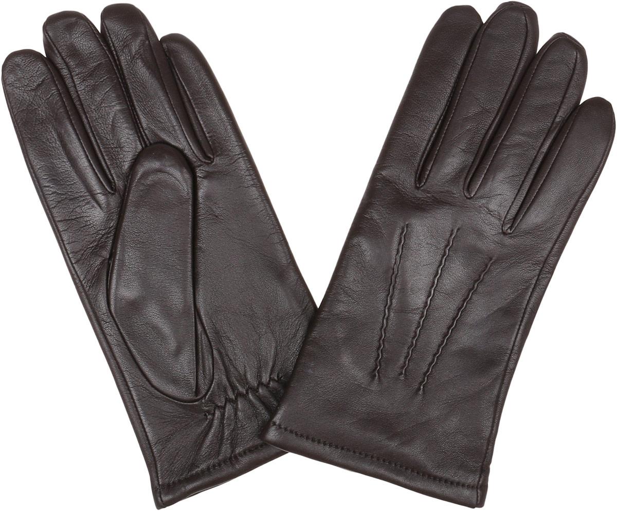 12.42-2 chocolateСтильные мужские перчатки Fabretti не только защитят ваши руки, но и станут великолепным украшением. Перчатки выполнены из натуральной кожи ягненка, а их подкладка - из высококачественной шерсти с добавлением кашемира. Модель дополнена декоративными швами в виде трех лучей. Перчатки имеют строчки- стежки на запястье, которые придают большее удобство при носке. Стильный аксессуар для повседневного образа.
