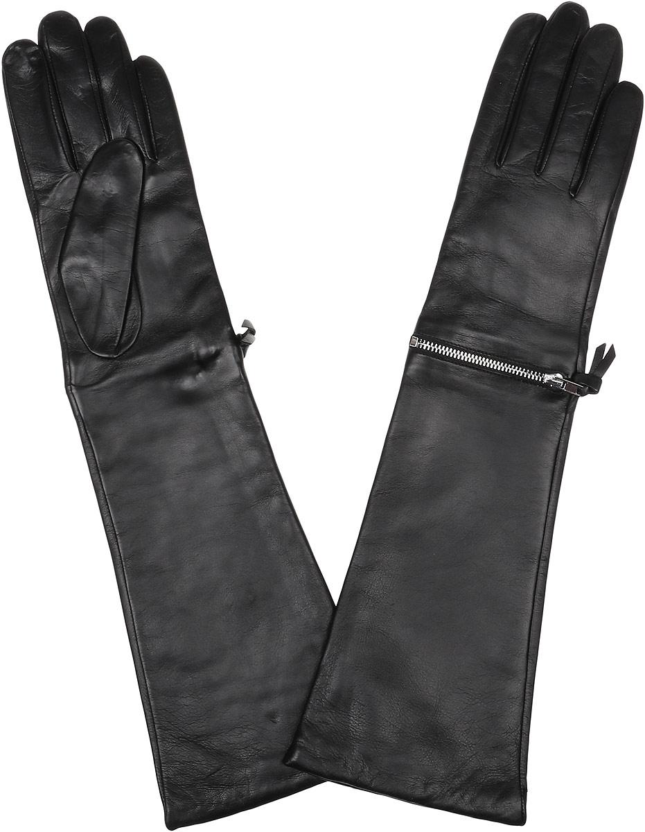 Длинные перчатки12.33-1 blackЭлегантные удлиненные женские перчатки Fabretti станут великолепным дополнением вашего образа и защитят ваши руки от холода и ветра во время прогулок. Перчатки выполнены из натуральной кожи ягненка. Модель декорирована металлической застёжкой-молнией. Такие перчатки будут оригинальным завершающим штрихом в создании современного модного образа, они подчеркнут ваш изысканный вкус и станут незаменимым и практичным аксессуаром.
