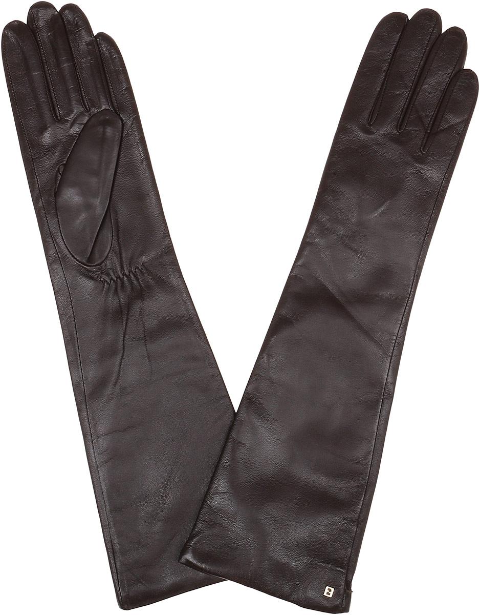 Длинные перчатки12.5-1_blackЭлегантные удлиненные женские перчатки Fabretti станут великолепным дополнением вашего образа и защитят ваши руки от холода и ветра во время прогулок. Перчатки выполнены из натуральной кожи ягненка. Модель декорирована небольшой металлической пластиной с логотипом бренда. Такие перчатки будут оригинальным завершающим штрихом в создании современного модного образа, они подчеркнут ваш изысканный вкус и станут незаменимым и практичным аксессуаром.