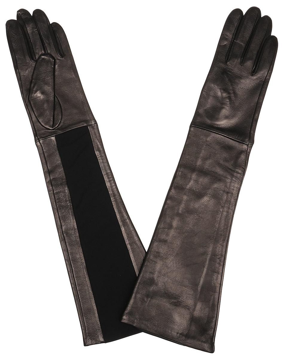 Перчатки2.81-1s blackЭлегантные удлиненные женские перчатки Fabretti станут великолепным дополнением вашего образа и защитят ваши руки от холода и ветра во время прогулок. Перчатки выполнены из натуральной кожи ягненка. Модель декорирована оригинальной трикотажной вставкой. Такие перчатки будут оригинальным завершающим штрихом в создании современного модного образа, они подчеркнут ваш изысканный вкус и станут незаменимым и практичным аксессуаром.
