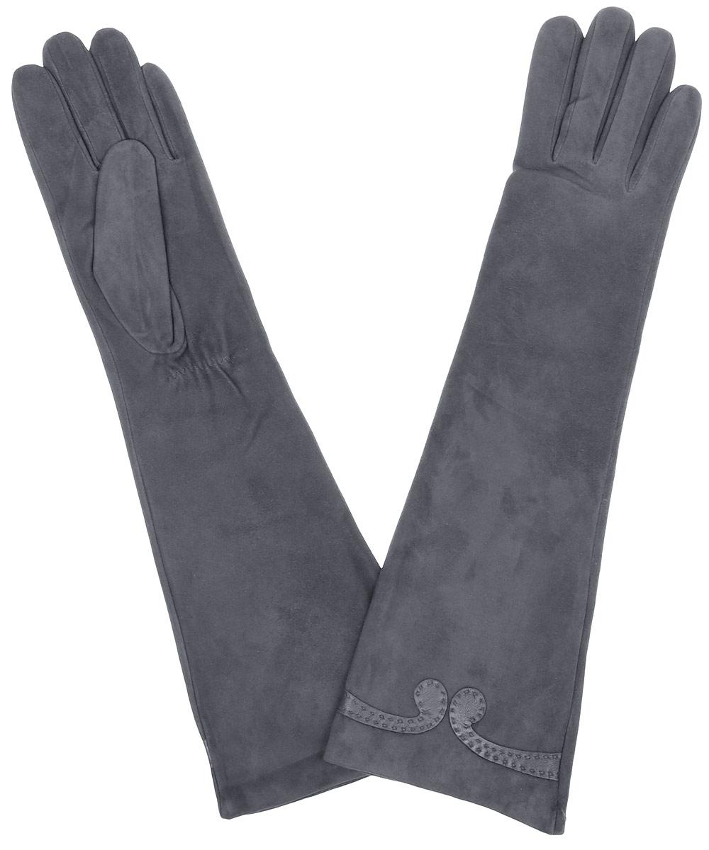 Перчатки2.84-2 chocolateЭлегантные удлиненные женские перчатки Fabretti станут великолепным дополнением вашего образа и защитят ваши руки от холода и ветра во время прогулок. Перчатки выполнены из натуральной кожи ягненка. Модель декорирована небольшим узором из кожи. Такие перчатки будут оригинальным завершающим штрихом в создании современного модного образа, они подчеркнут ваш изысканный вкус и станут незаменимым и практичным аксессуаром.