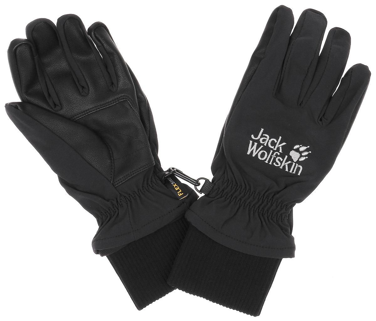 Перчатки1906021-6000Теплые, хорошо дышащие мужские перчатки Wolfskin Flexshield Basic Glove сохранят тепло и комфорт при ветре и в зимнюю непогоду. Модель выполнена из материала FLEXSHIELD BASIC GLOVE - софтшелл для холодного времени года. Они обладают водостойкими и непродуваемыми свойствами и особенно хорошо дышат, чтобы ваши руки оставались на улице сухими и теплыми. Перчатки изготовлены из биэластичного материала, поэтому они повторяют все ваши движения и подойдут для любого активного похода. Внутренняя сторона модели выполнена из теплой подкладки с функцией регулирования влажности, обеспечивающую дополнительное тепло. Дополнена модель фирменной нашивкой с названием бренда.