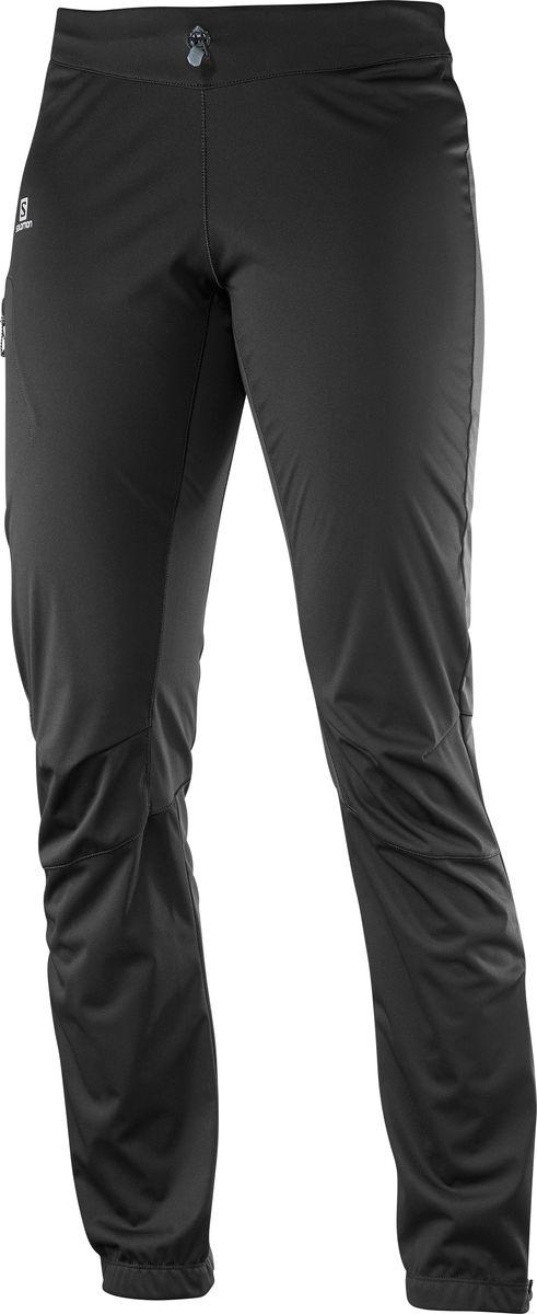 БрюкиL38291000Женские брюки Salomon изготовлены из прочного полиэстера. Прилегающие легкие брюки из качественного материала обеспечивают комфорт при катании, а также защиту от ветра. Брюки дополнены широкой эластичной резинкой на талии и шнуркомм со стоппером.
