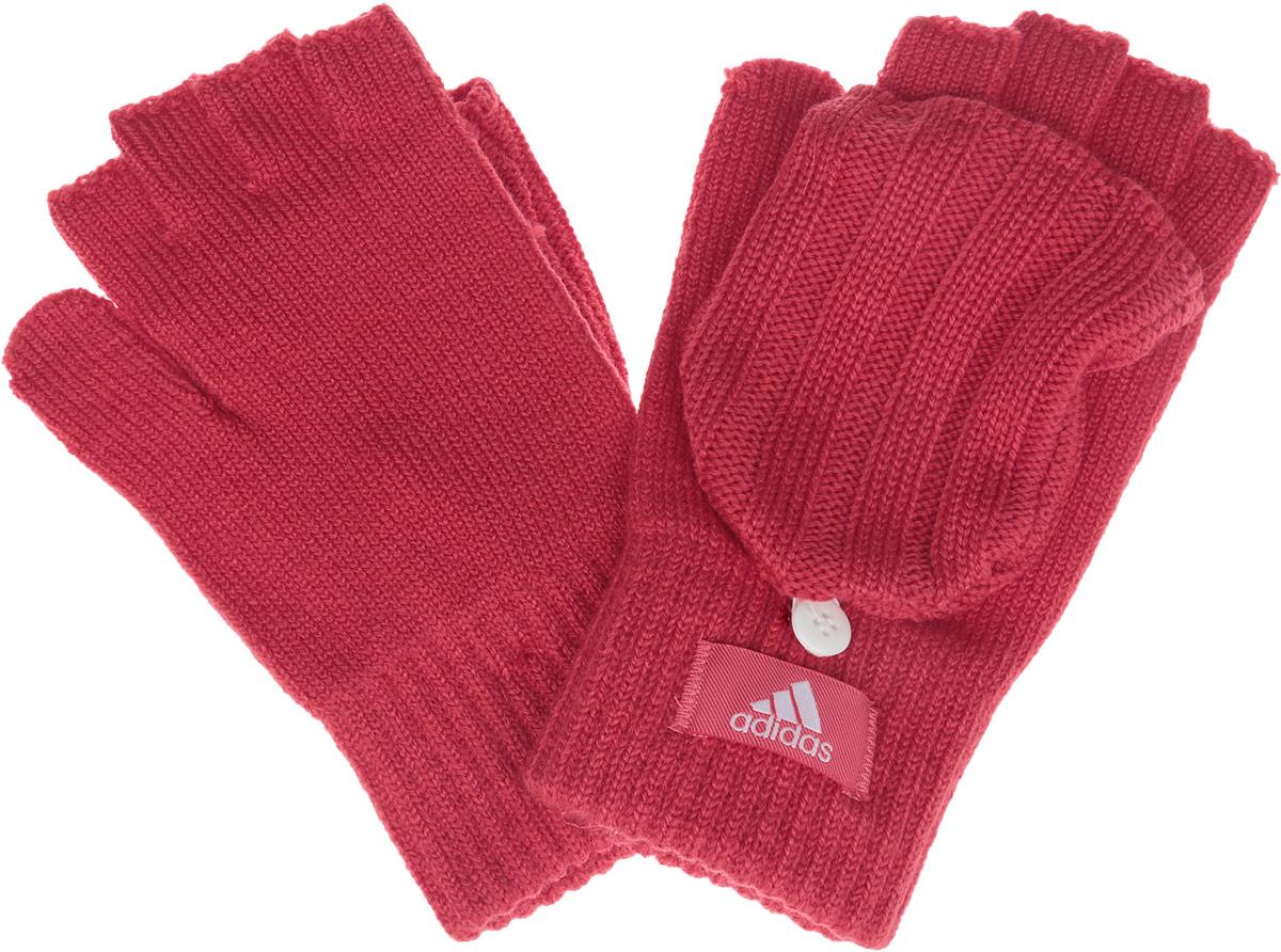 ПерчаткиAY6610Вязаные женские перчатки-варежки Adidas W ess gloves не только защитят ваши руки, но и станут великолепным украшением. Перчатки, выполненные из высококачественных материалов, хорошо сохраняют тепло, мягкие, идеально сидят на руке и хорошо тянутся. Изделие представляет собой перчатки без пальцев, к внешней стороне которых крепится капюшон, накинув его на пальцы, перчатки превращаются в варежки. Капюшон фиксируется на перчатке при помощи пуговицы. Модель дополнена с внешней стороны нашивкой с надписью бренда.