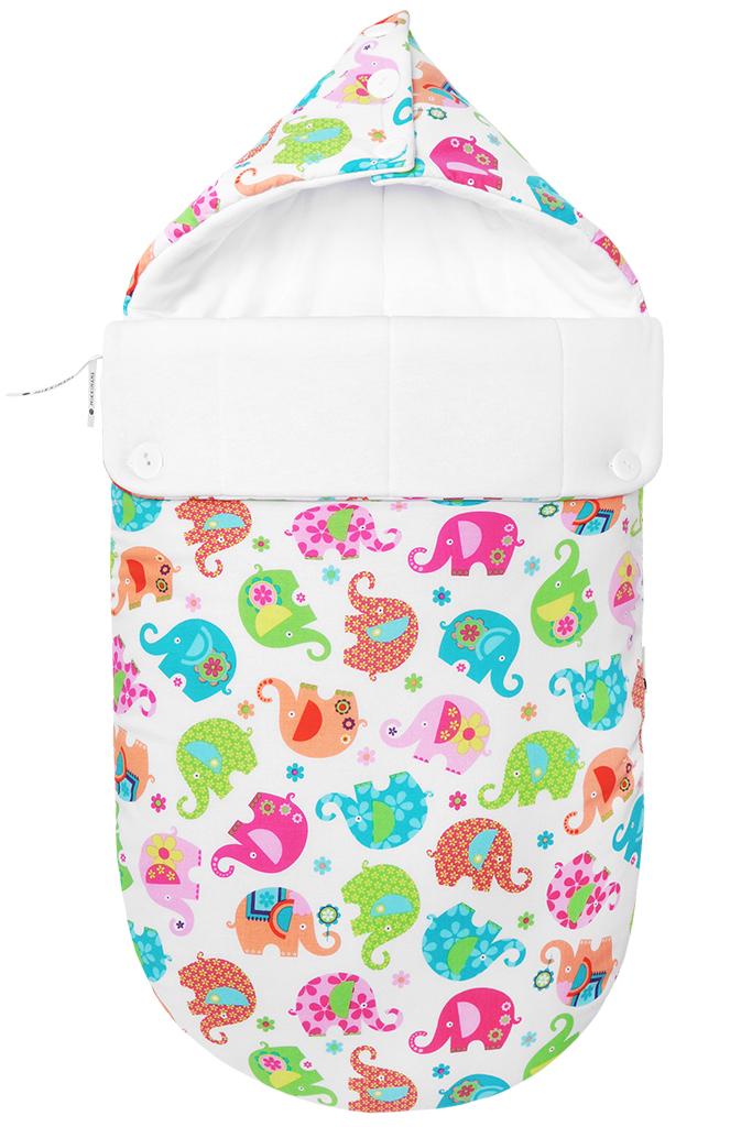 Конверт для новорожденного100101432Демисезонный конверт для новорожденного Mikkimama Хортон порадует даже самых требовательных мам и согреет малыша в прохладную погоду. Изделие подойдет как для выписки ребенка из роддома, так и для дальнейших прогулок на руках и в коляске. Конверт изготовлен из хлопка на хлопковой подкладке. В качестве утеплителя используются альполюкс (150 г/м2). Это экологически чистый утеплитель премиум класса. Уникальное сочетание натуральной шерсти мериноса и высококачественного микроволокна помогают поддержать оптимальную для новорожденного температуру: малышу теплее на улице даже в прохладную погоду. Верхняя часть конверта может использоваться в качестве капюшона, с помощью пластиковых пуговиц она принимает вид треугольника. Конверт закрывается при помощи пластиковой застежки-молнии и при необходимости он полностью раскладывается в удобный коврик для пеленания или игр. Легко отстегивающийся отворот защитит кроху от холодного ветра. Также конверт можно использовать в качестве...