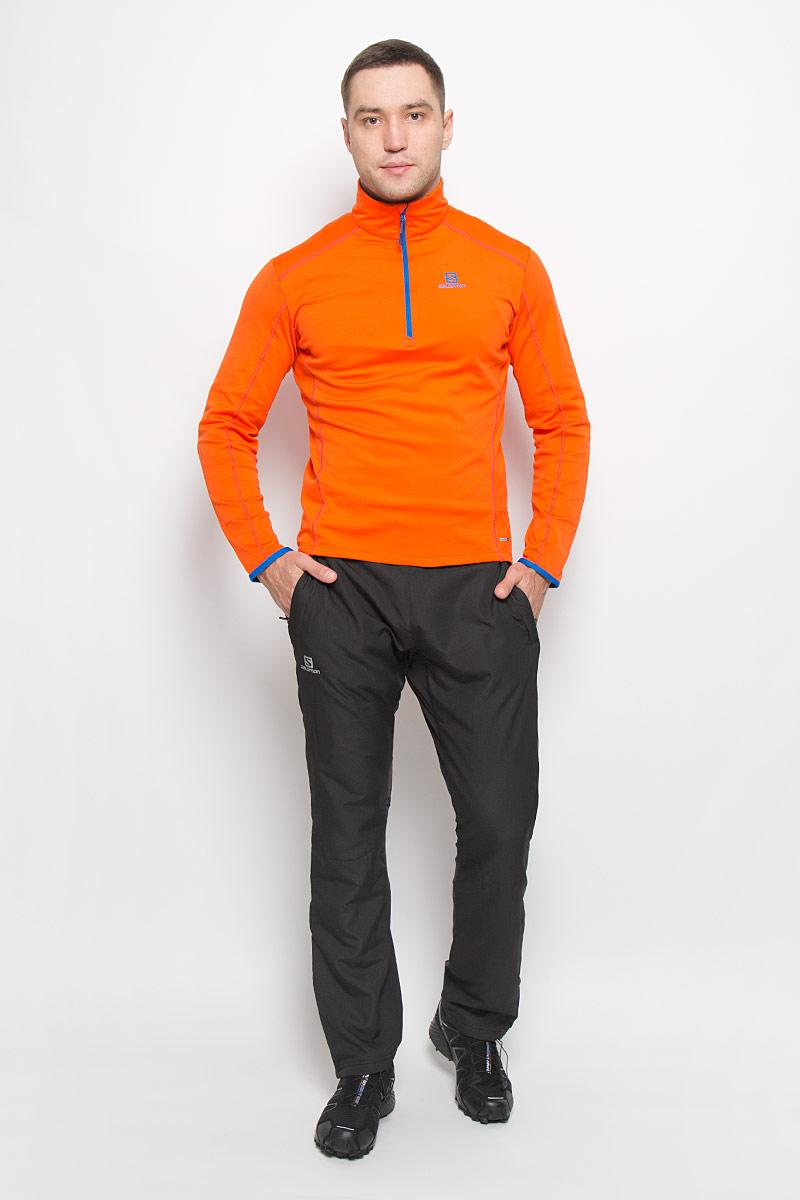 Брюки спортивныеL38298600Мужские брюки Escape Pant от Salomon идеально подойдут для занятий зимними видами спорта. Модель изготовлена из высококачественного полиэстера, задняя часть - из нейлона с добавлением эластана. Благодаря технологии Advanced Skin Shield материал защищает от проникновения ветра и хорошо пропускает воздух. Подкладка выполнена из полиэстера. В качестве утеплителя используется полиэстер. Брюки прямого кроя имеют широкий эластичный пояс с эластичным шнурком. Спереди находятся два втачных кармана с застежками-молниями. Ширина нижней части штанин регулируется за счет застежек-молний.