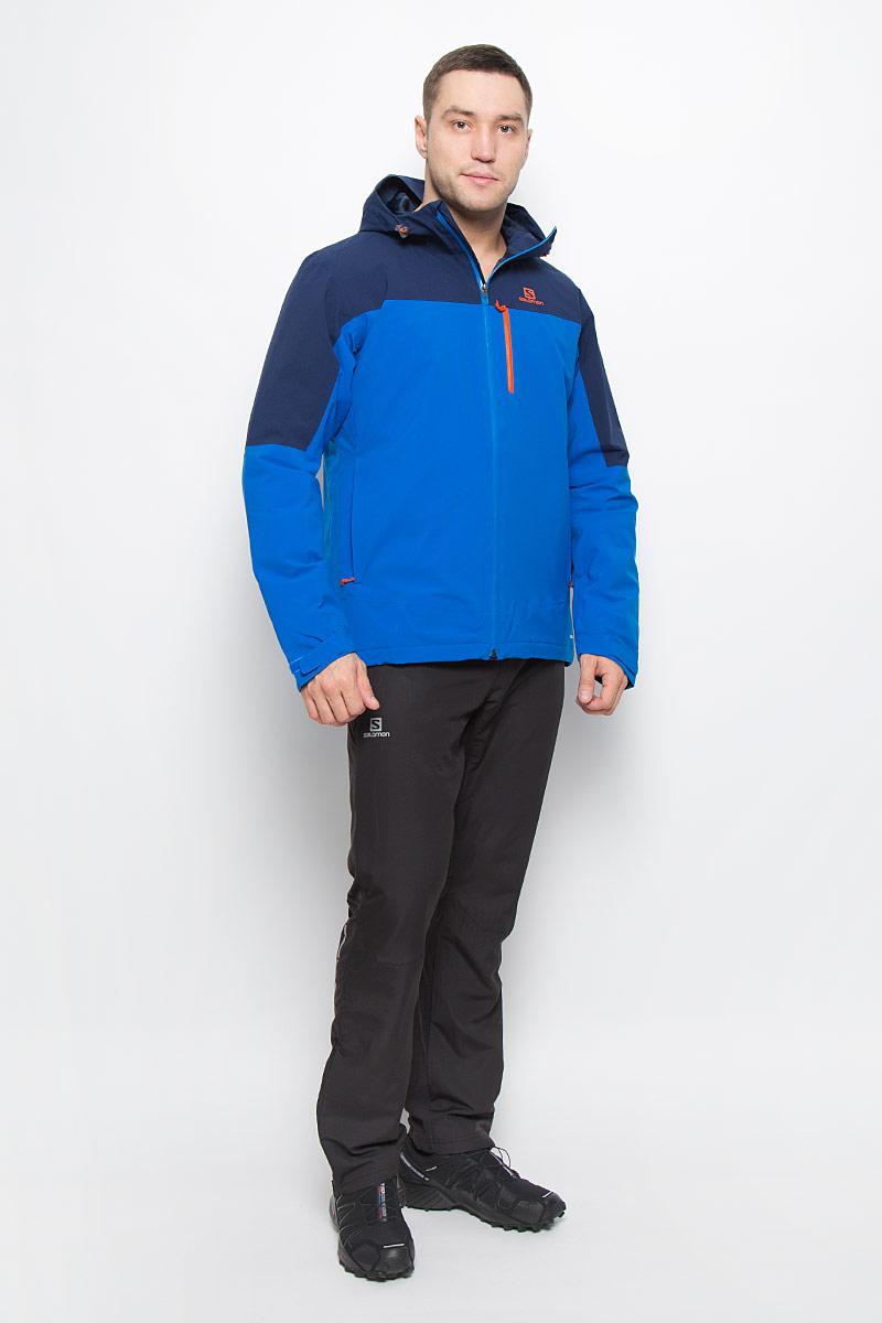КурткаL38312400Мужская куртка La Cote Insulated от Salomon идеально подойдет занятий зимними видами спорта. Модель изготовлена из высококачественного полиэстера, подкладка - из нейлона. В качестве утеплителя используется полиэстер. Благодаря технологии Advanced Skin Dry материал защищает от проникновения влаги и хорошо пропускает воздух. Модель с несъемным капюшоном, регулирующимся с помощью эластичных шнурков со стопперами, застегивается на застежку- молнию. Манжеты рукавов оснащены хлястиками с липучками. Спереди модель дополнена тремя прорезными карманами с застежками-молниями, внутренней стороны - дополнительным карманом с застежкой-молнией.