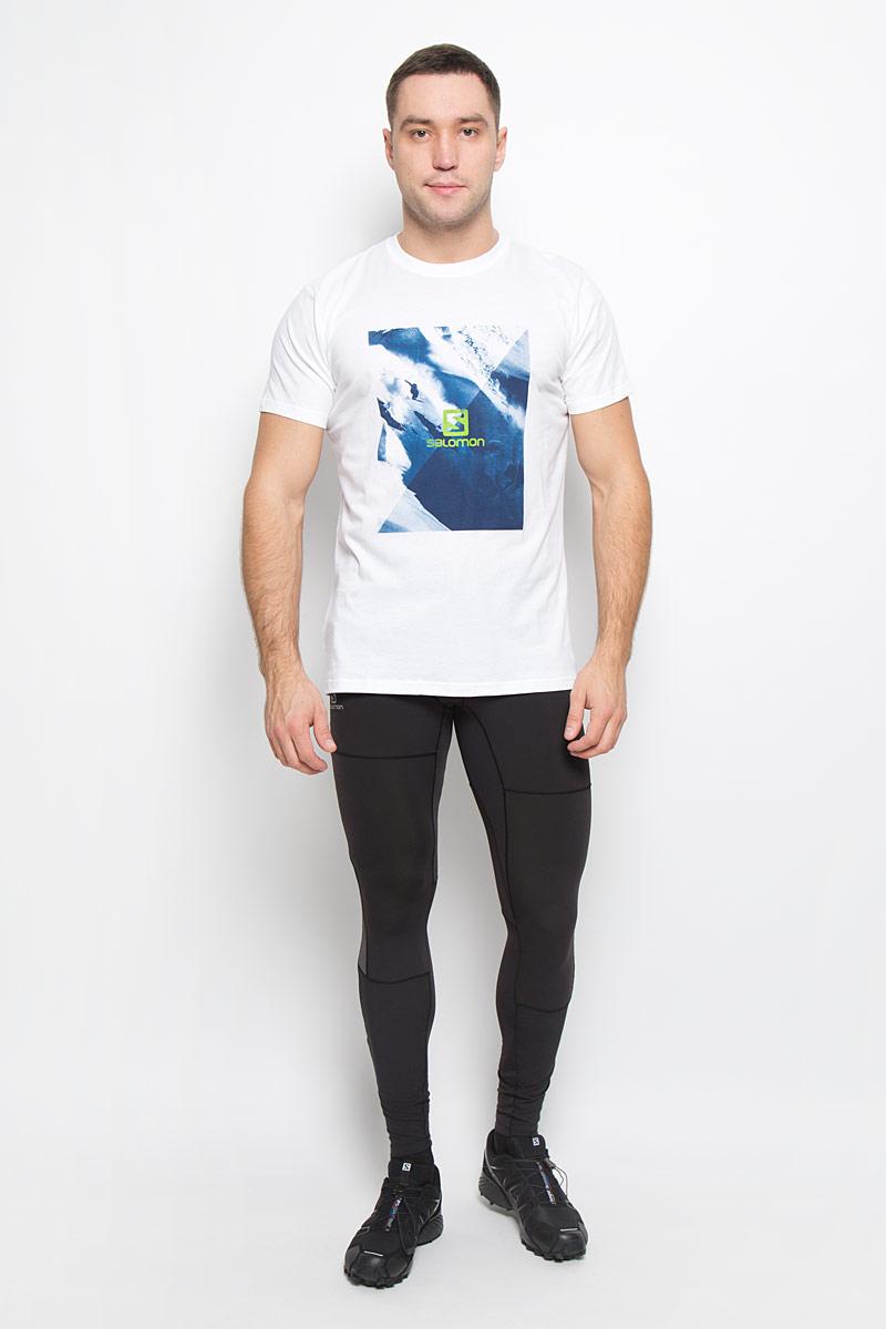 L38209000Мужская футболка Cliffdrop SS Cotton Tee от Salomon поможет создать отличный современный образ. Модель, изготовленная из натурального хлопка, очень мягкая, тактильно приятная, не сковывает движения и позволяет коже дышать. Футболка с круглым вырезом горловины и короткими рукавами оформлена спереди крупным принтом.