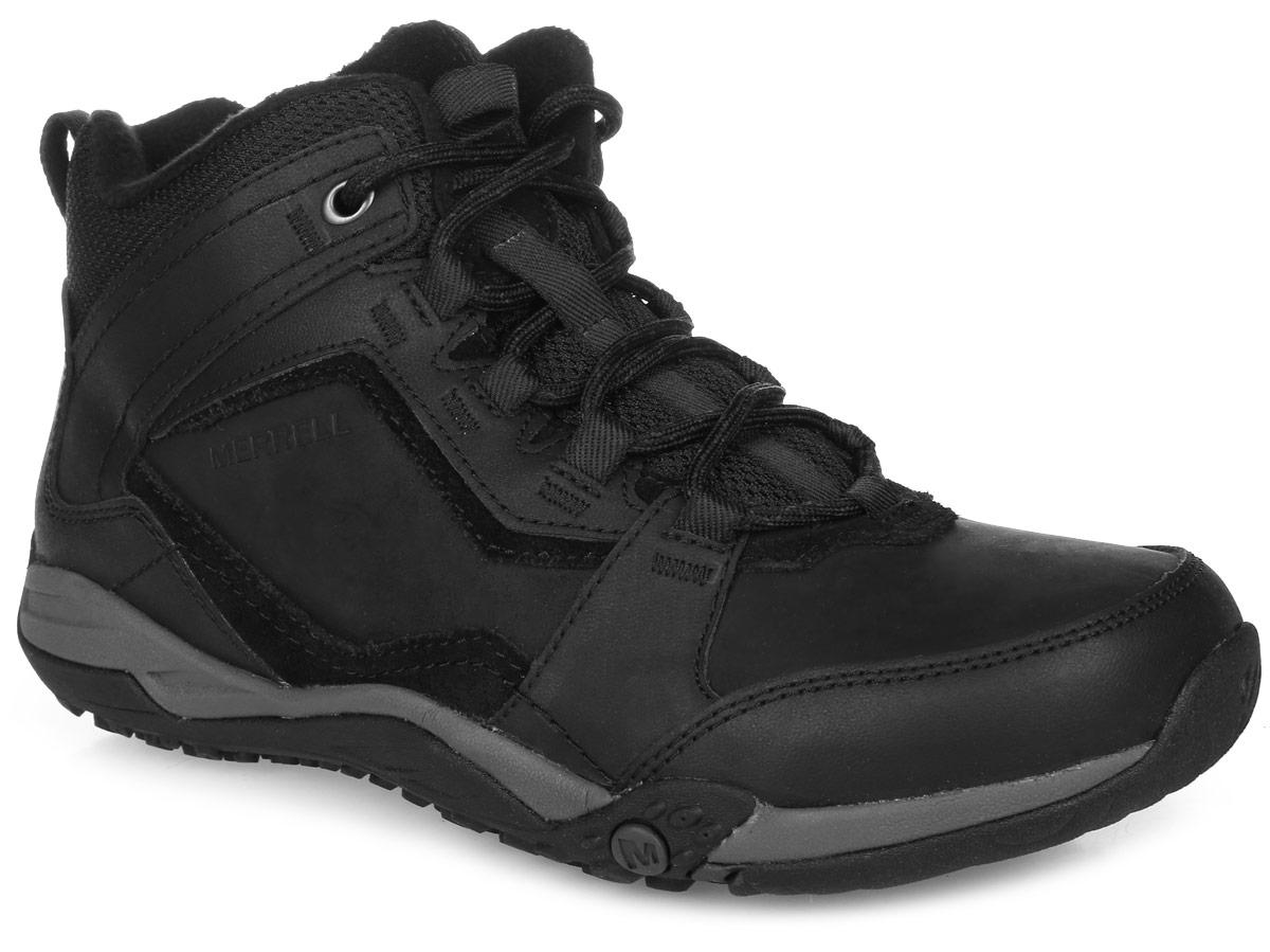 Ботинки49577Мужские трекинговые ботинки от Merrell прекрасно подойдут для активного отдыха. Верх модели выполнен из натуральной кожи, элементов из замши и текстиля. Прорезиненный бампер носка надежно защитит от проникновения влаги. Подкладка из мягкого флиса защитит ноги от холода и обеспечит комфорт. Шнуровка надежно фиксирует модель на ноге. Вшитый язычок увеличит теплоизоляцию. Нейлоновый супинатор поддерживает свод стопы и защищает от ударов. Промежуточная подошва выполнена из ЭВА - гибкого, легкого материала обладающего отличной амортизацией, который стабилизирует и защищает от ударов стопу. Подошва из резины Merrell M-Select Grip с глубоким протектором обеспечивает отличное сцепление на любой поверхности.