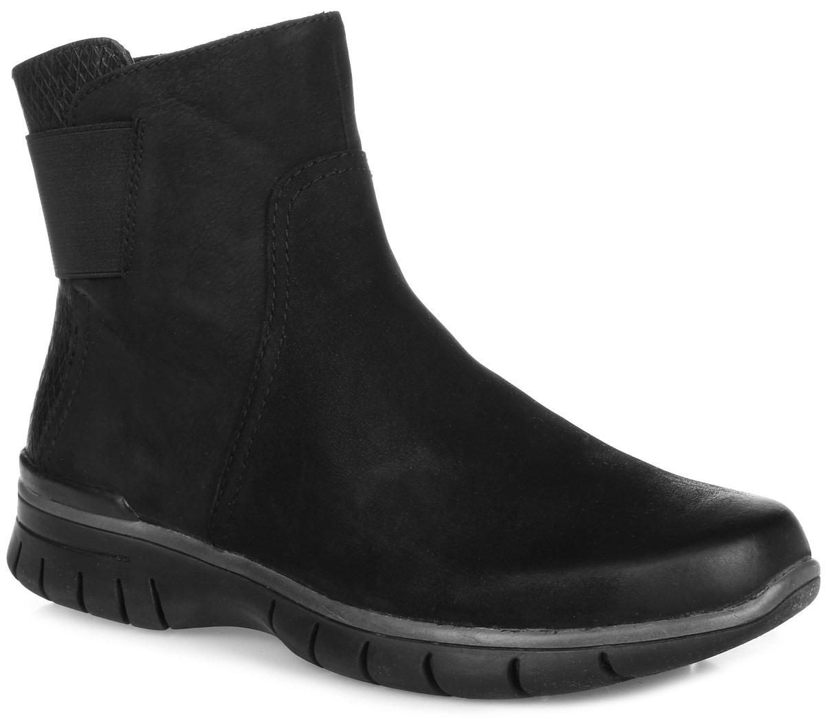 2-2-25443-27-096Стильные ботинки от Marco Tozzi добавят шика в модный образ и подчеркнут ваш безупречный вкус. Модель полностью выполнена из натуральной кожи. Задник модели выполнен из фактурной кожи и дополнен эластичной резинкой. На ноге модель фиксируется с помощью удобной боковой молнии. Подкладка и стелька, выполненные из мягкого текстиля, обеспечат максимальный комфорт при движении. Подошва с рифлением защищает изделие от скольжения. Такие элегантные ботинки займут достойное место в вашем гардеробе.