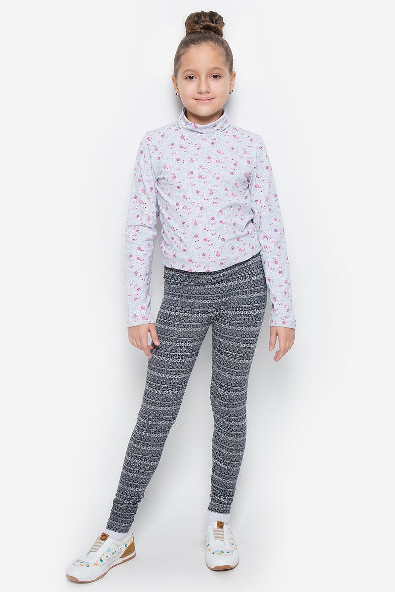 ЛеггинсыPLG-615/097-6323Леггинсы для девочки Sela выполнены из хлопка с добавлением вискозы и эластана. Леггинсы имеют на талии мягкую эластичную резинку. Изделие оформлено орнаментом.