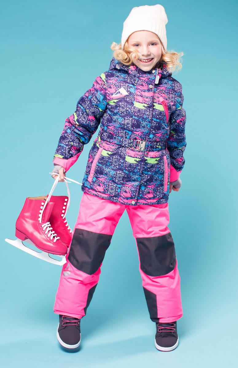 16/OA-1SU426-1Яркий комплект для девочки Oldos Active Софи, состоящий из куртки и полукомбинезона, идеально подойдет для ребенка в холодную погоду. Комплект выполнен из водонепроницаемой и ветрозащитной ткани. Водо- и грязеотталкивающее покрытие Teflon повышает износостойкость модели, что обеспечивает ей хороший внешний вид на всем протяжении носки. В качестве наполнителя используется холлофан - легкий антиаллергенный материал, который обладает отличной терморегуляцией. Изделие легко стирается и быстро сохнет. Куртка с капюшоном и воротником-стойкой застегивается на пластиковую молнию с защитой подбородка. Модель оснащена двумя ветрозащитными планками, внешняя пристегивается на застежки-липучки и кнопки. Подкладка курточки (кроме рукавов) выполнена из теплого и мягкого флиса. Регулируемый капюшон, дополненный по краю эластичным шнурком со стопперами, пристегивается к куртке с помощью молнии и кнопок. Края рукавов присборены на резинки и дополнены хлястиками на липучках. На...