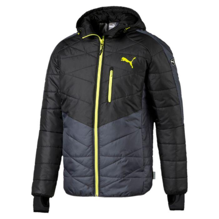 Куртка838648_32Куртка Puma Active Norway Jacket выполнена из быстросохнущего материала, утеплитель Thinsulate. Модель декорирована логотипом PUMA, нанесенным методом глянцевой печати, а также силиконовой эмблемой PUMA, Она изготовлена по технологии warmCELL, обеспечивающей отличное сохранение тепла и способствующей естественной терморегуляции. Среди других отличительных особенностей модели - капюшон изменяемой формы с затягивающимися шнурами, снабженными стопорами, ветрозащитный клапан и наращенный спереди ворот, надежно закрывающий шею и подбородок, язычки застежек-молний из светоотражающего материала, карман на молнии на груди с прорезиненной петлицей и эластичной петлей для регулировки длины провода наушников, вторые удлиненные манжеты из эластичного материала с отверстием для большого пальца, подбой манжет и подола эластичным материалом, боковые карманы на молнии с односторонней подкладкой из флиса, петля для вешалки, светоотражающая вставка сзади в пройме с обозначением использования материала...