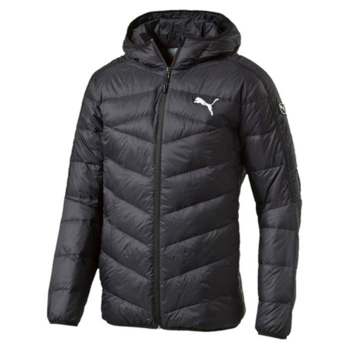 838651_01Стильная и теплая куртка Puma Active 650 Goose Down Jacket прекрасно подходит для тренировок на свежем воздухе. Ветрозащитный клапан с защитой подбородка, светоотражающий бегунок на молнии. Модель декорирована логотипом PUMA, нанесенным методом глянцевой печати, а также силиконовой эмблемой PUMA. Она изготовлена по технологии warmCELL, обеспечивающей отличное сохранение тепла и способствующей естественной терморегуляции. Среди других отличительных особенностей модели - ветрозащитный клапан и наращенный спереди ворот, надежно закрывающий шею и подбородок, язычки застежек-молний из светоотражающего материала, боковые карманы на молнии, капюшон с эластичными завязками, отделка эластичным материалом манжет и подола, петля для вешалки, светоотражающая вставка сзади в пройме с обозначением использования материала Keep Heat, внутренний карман для электронных устройств с прорезиненной петлицей и эластичной петлей для регулировки длины провода наушников, висячий ярлык с указанием состава...