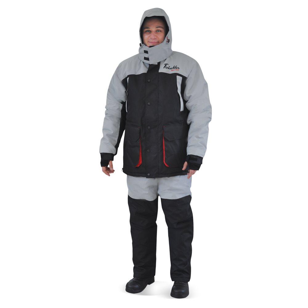 Костюм рыболовный95861-966Теплый и непродуваемый костюм для зимней рыбалки поможет с комфортом рыбачить в сильный мороз! А большое количество специальных карманов для приманок, живой наживки, специальных теплых карманов для рук - сделает рыбалку еще более комфортной! Не забывайте правильно одеваться на рыбалку, чтобы не замерзнуть в сильный мороз одевайте под костюм комплект из флиса и теплого термобелья! Проклеенные швы, внутренние манжеты, анатомический крой рукава, кольцо для перчаток. Влагостойкость 3 000 мм. Паропроницаемость 3 000 - мл./м.кв./24часа.