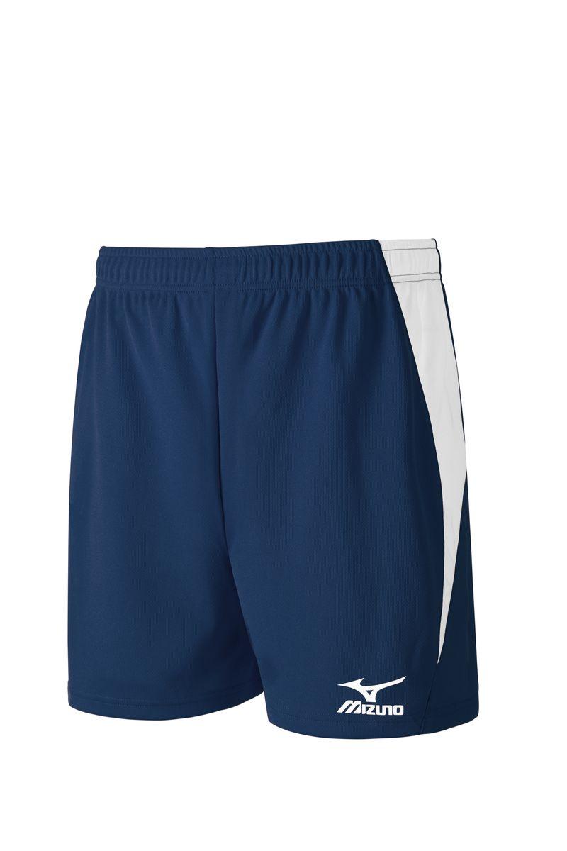 V2GB6B31-14Легкие мужские шорты для игры в волейбол выполнены из высококачественного материала. Оформлены контрастными вставками и напечатанным логотипом Mizuno.