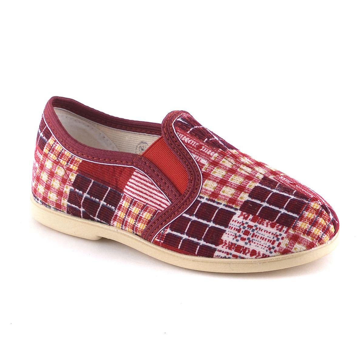 299-1в2Лёгкие домашние туфли. Для верха обуви использован вельвет,подкладка и стелька- байка, подошва-ЭВА. Главная отличительная особенность - усиленный задник, который препятствует вертикальной деформации и вылеганию задней части верха в процессе носки.