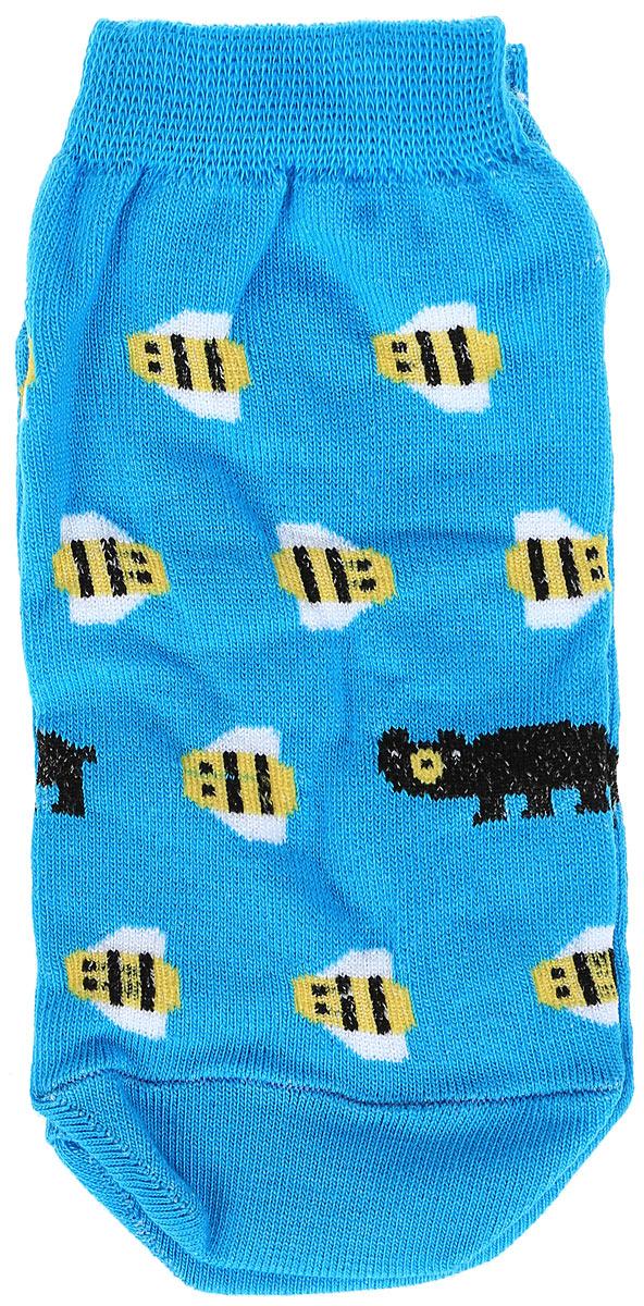Носкиs2222Яркие женские носки Big Bang Socks Медведь и пчела изготовлены из высококачественного хлопка с добавлением полиамидных и эластановых волокон, которые обеспечивают великолепную посадку. Носки отличаются ярким стильным дизайном. Удобная резинка идеально облегает ногу и не пережимает сосуды, а укороченный паголенок придает более эстетичный вид.