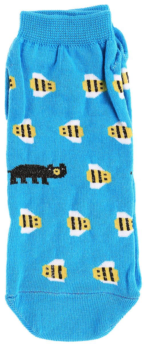 Носкиs2232Яркие мужские носки Big Bang Socks Медведь и пчела изготовлены из высококачественного хлопка с добавлением полиамидных и эластановых волокон, которые обеспечивают великолепную посадку. Носки отличаются ярким стильным дизайном. Удобная резинка идеально облегает ногу и не пережимает сосуды, а укороченный паголенок придает более эстетичный вид.