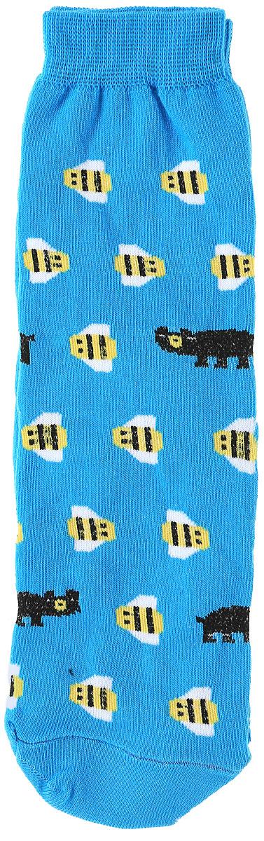 Носкиs2221Яркие женские носки Big Bang Socks Медведь и пчела изготовлены из высококачественного хлопка с добавлением полиамидных и эластановых волокон, которые обеспечивают великолепную посадку. Носки отличаются ярким стильным дизайном. Удобная резинка идеально облегает ногу и не пережимает сосуды.