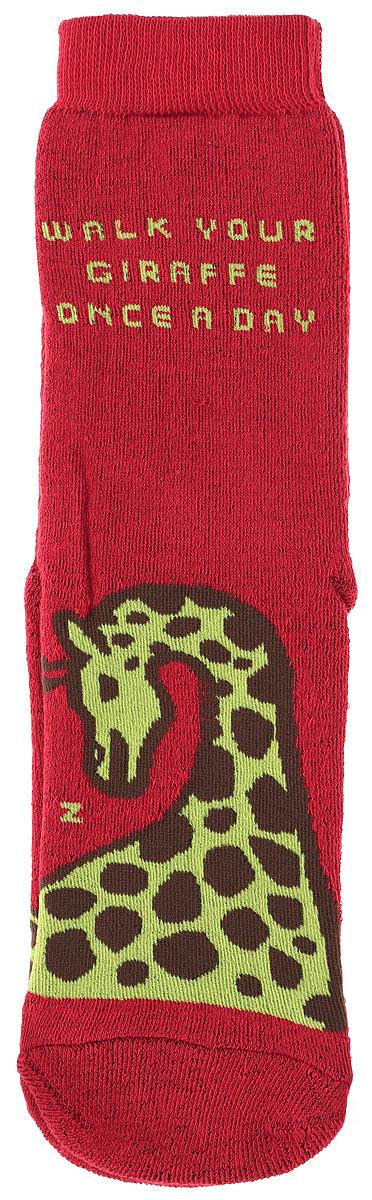 Носкиn323Махровые женские носки Big Bang Socks Жираф, изготовленные из высококачественного хлопка с добавлением полиамидных и эластановых волокон, согреют ваши ноги. Носки отличаются ярким стильным дизайном. Удобная резинка идеально облегает ногу и не пережимает сосуды.
