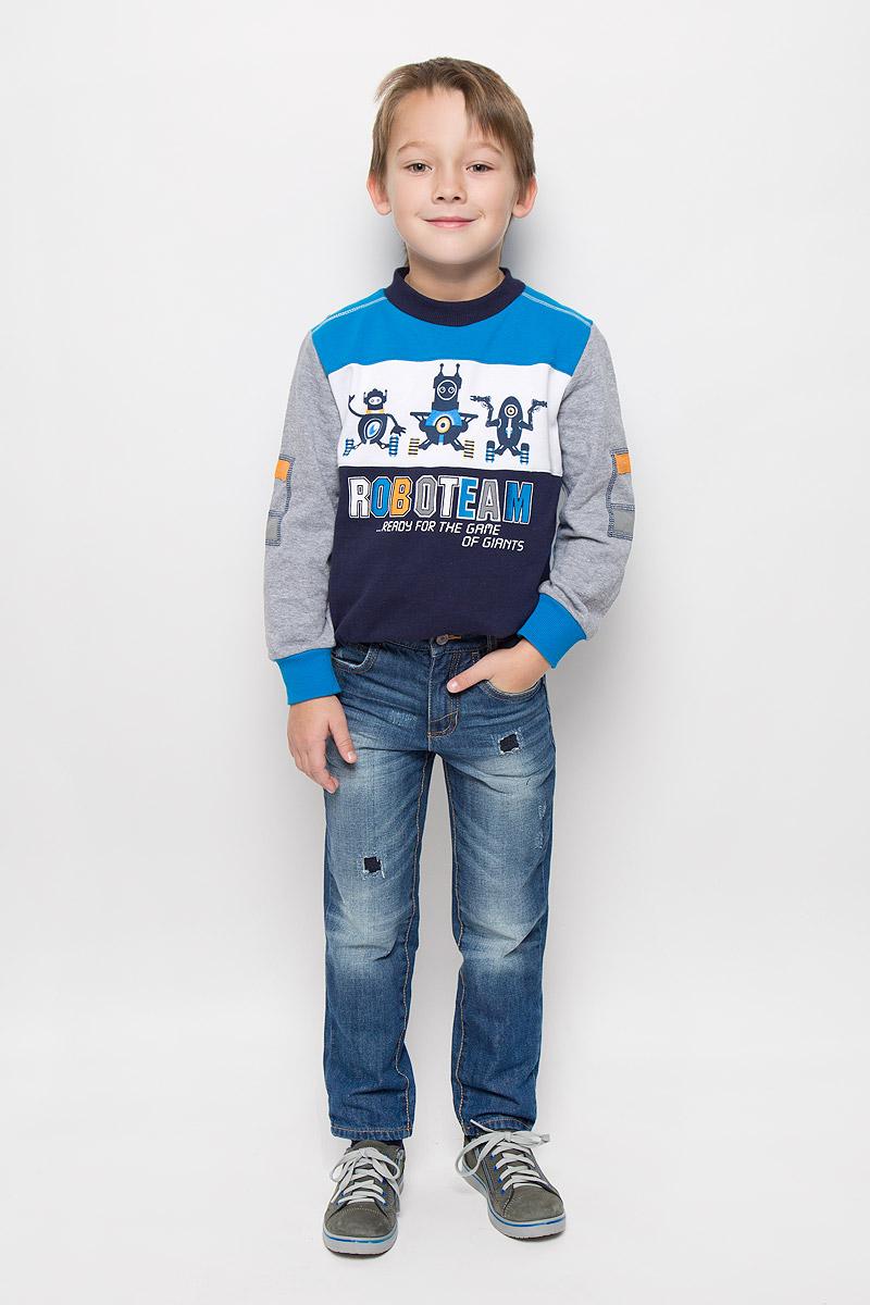 Джинсы6204954.01.82_1095Стильные джинсы Tom Tailor, изготовленные из натурального хлопка, необычайно мягкие и приятные на ощупь, не сковывают движения и позволяют коже дышать, не раздражают даже самую нежную и чувствительную кожу ребенка, обеспечивая наибольший комфорт. Джинсы-скинни застегиваются на крючок в поясе и ширинку на застежке-молнии. С внутренней стороны пояс дополнен регулируемой эластичной резинкой, которая позволяет подогнать модель по фигуре. Спереди джинсы дополнены двумя втачными карманами и маленьким накладным кармашком, сзади - двумя накладными карманами. Модель оформлена контрастной прострочкой, перманентными складками, эффектом потертости и декоративными заплатками.