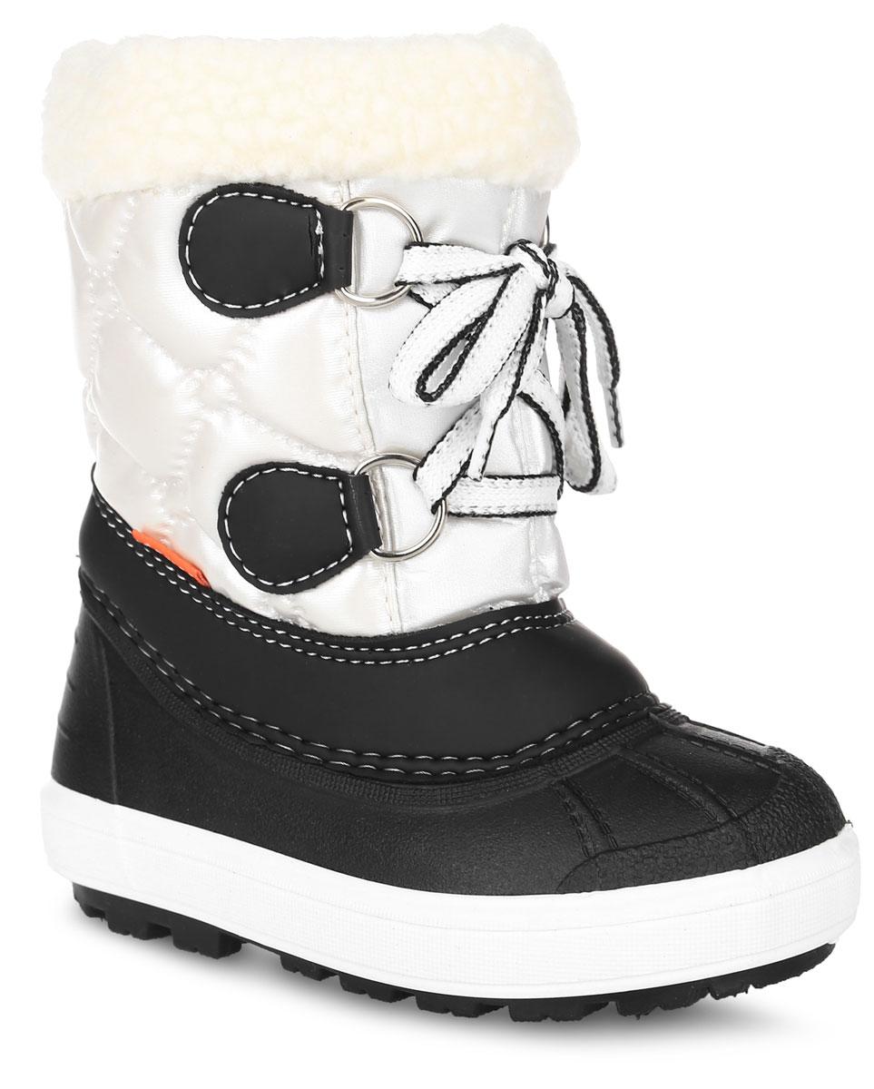 1500Практичные и удобные дутики от Demar - отличный вариант на каждый день. Модель выполнена в нижней части из ПВХ (поливинилхлорида), а голенище - из современного текстильного материала контрастного цвета. Подкладка и стелька - из натуральной шерсти, согреют ножки ребенка в холод. Кант изделия декорирован искусственным мехом. Верх голенища оформлен шнуровкой, которая надежно фиксирует модель на ноге и регулирует объем. Сбоку модель дополнена ярлычком с логотипом Demar и надписью Kids. Высокая подошва, выполненная из литой резины, имеет специальное рифление, которое защищает от скольжения и сохраняет гибкость даже в значительные морозы. Удобные дутики придутся по душе вашему ребенку!