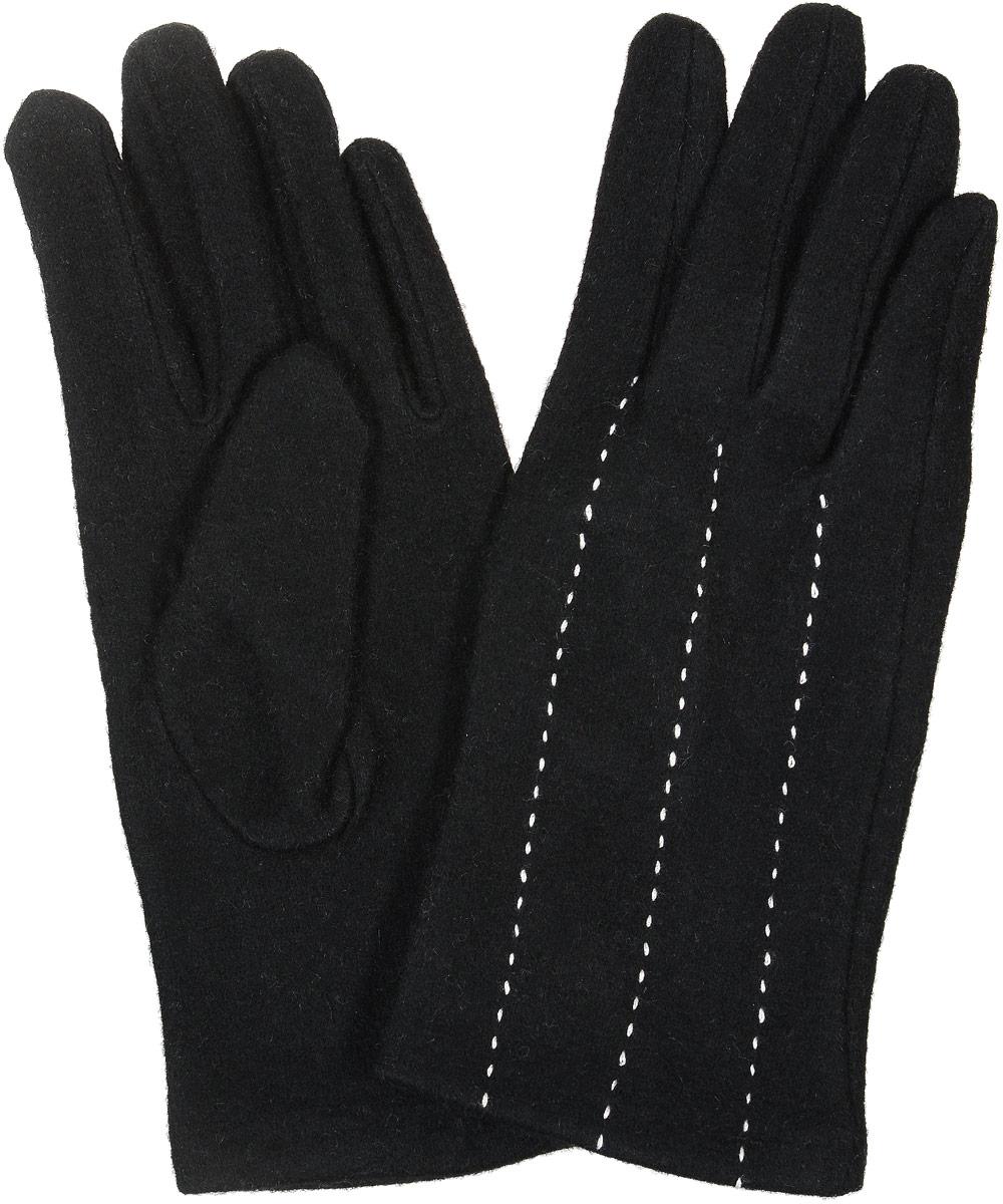 02109115221_51Элегантные женские перчатки Sabellino станут великолепным дополнением вашего образа и защитят ваши руки от холода и ветра во время прогулок. Перчатки выполнены из плотного шерстяного трикотажа. Модель выполнена в лаконичном однотонном стиле и на лицевой стороне оформлена контрастной отстрочкой. Такие перчатки будут оригинальным завершающим штрихом в создании современного модного образа.