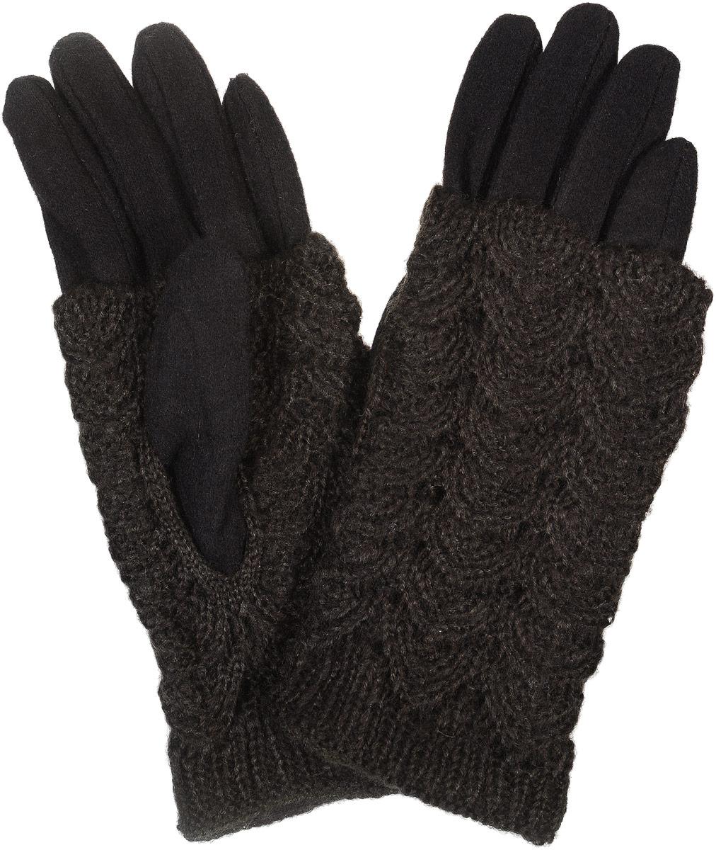 02109115220_23Элегантные женские перчатки Sabellino станут великолепным дополнением вашего образа и защитят ваши руки от холода и ветра во время прогулок. Перчатки выполнены из плотного шерстяного трикотажа. Модель выполнена в лаконичном однотонном стиле и дополнена теплой вязанной накладкой. Такие перчатки будут оригинальным завершающим штрихом в создании современного модного образа.