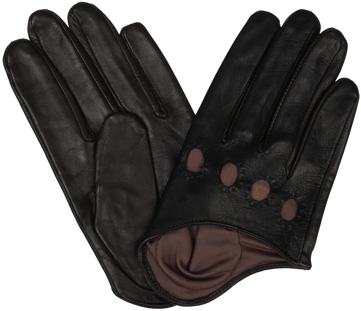 ПерчаткиK81-IA1/BL.BR (60)Стильные укороченные перчатки Michel Katana с шелковой подкладкой выполнены из мягкой и приятной на ощупь натуральной кожи ягненка. С лицевой стороны перчатки оформлены декоративной перфорацией. Перчатки станут достойным элементом вашего стиля и сохранят тепло ваших рук. Это не просто модный аксессуар, но и уникальный авторский стиль, наполненный духом севера Франции.
