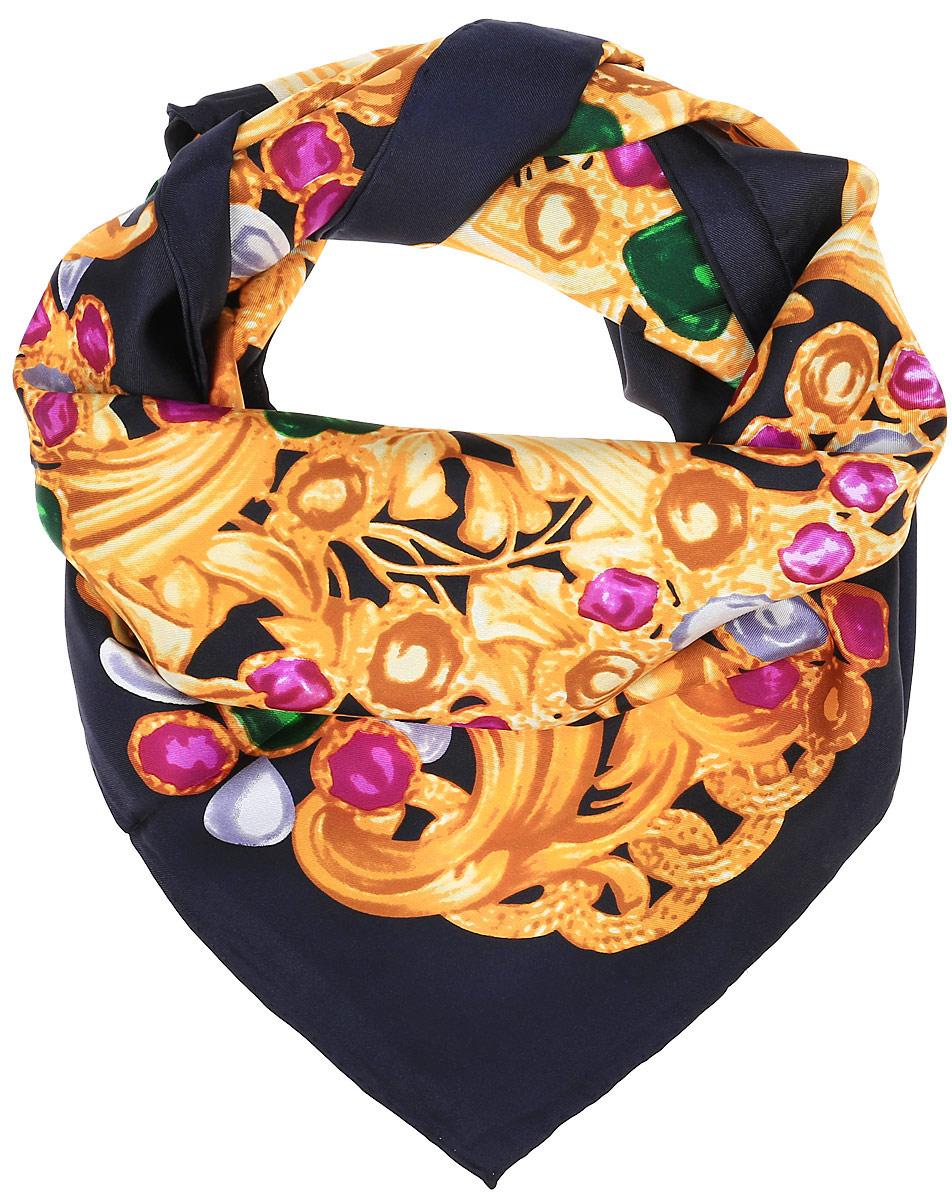 0510815261_37Очаровательный женский платок Piero станет великолепным завершением любого наряда. Платок изготовлен из высококачественного шелка и оформлен контрастным цветочным принтом. Классическая квадратная форма позволяет носить платок на шее, украшать им прическу или декорировать сумочку.