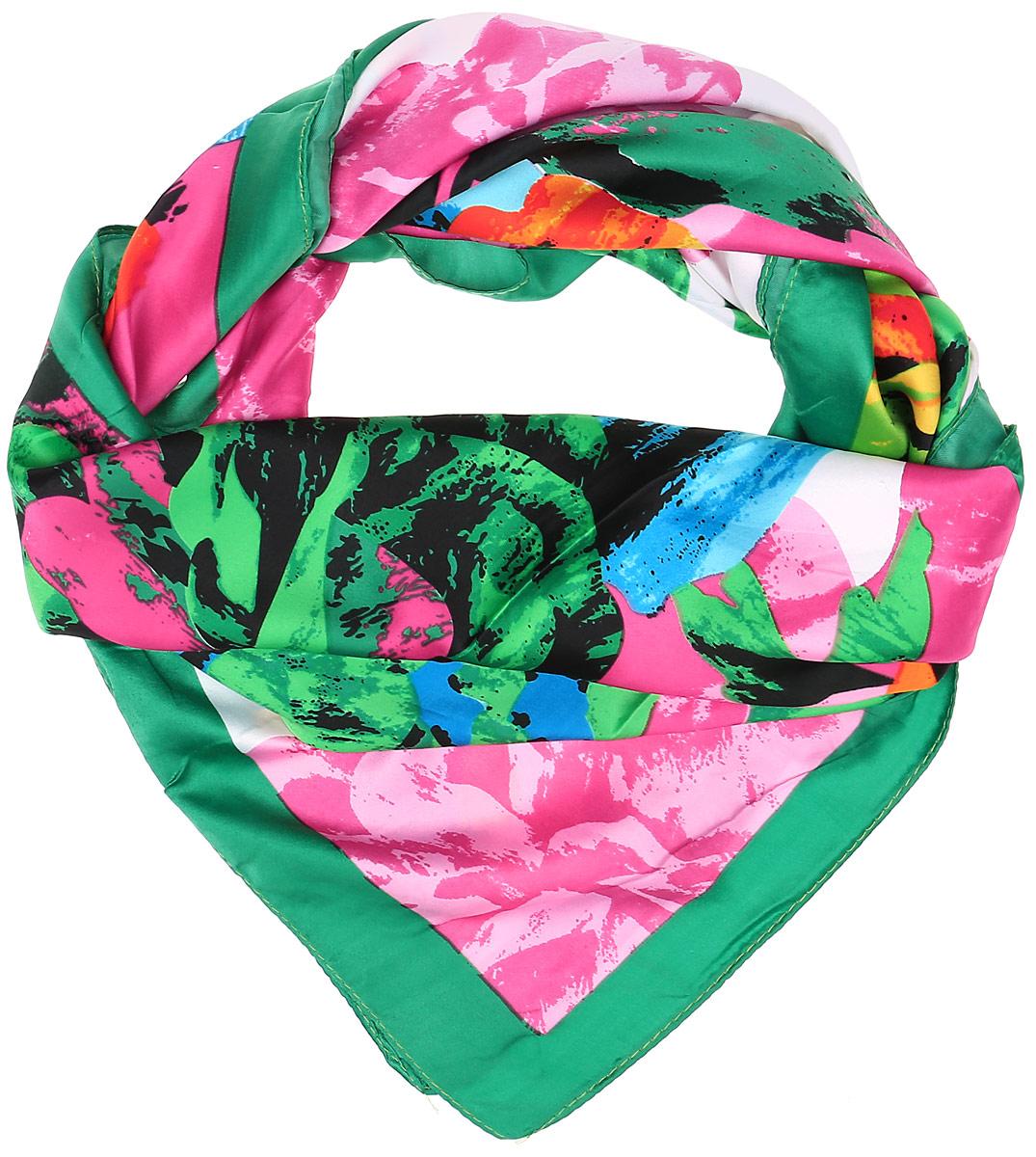 0510115244_62Очаровательный женский платок Sabellino станет великолепным завершением любого наряда. Платок изготовлен из высококачественного полиэстера и оформлен оригинальным цветочным принтом. Классическая квадратная форма позволяет носить платок на шее, украшать им прическу или декорировать сумочку.