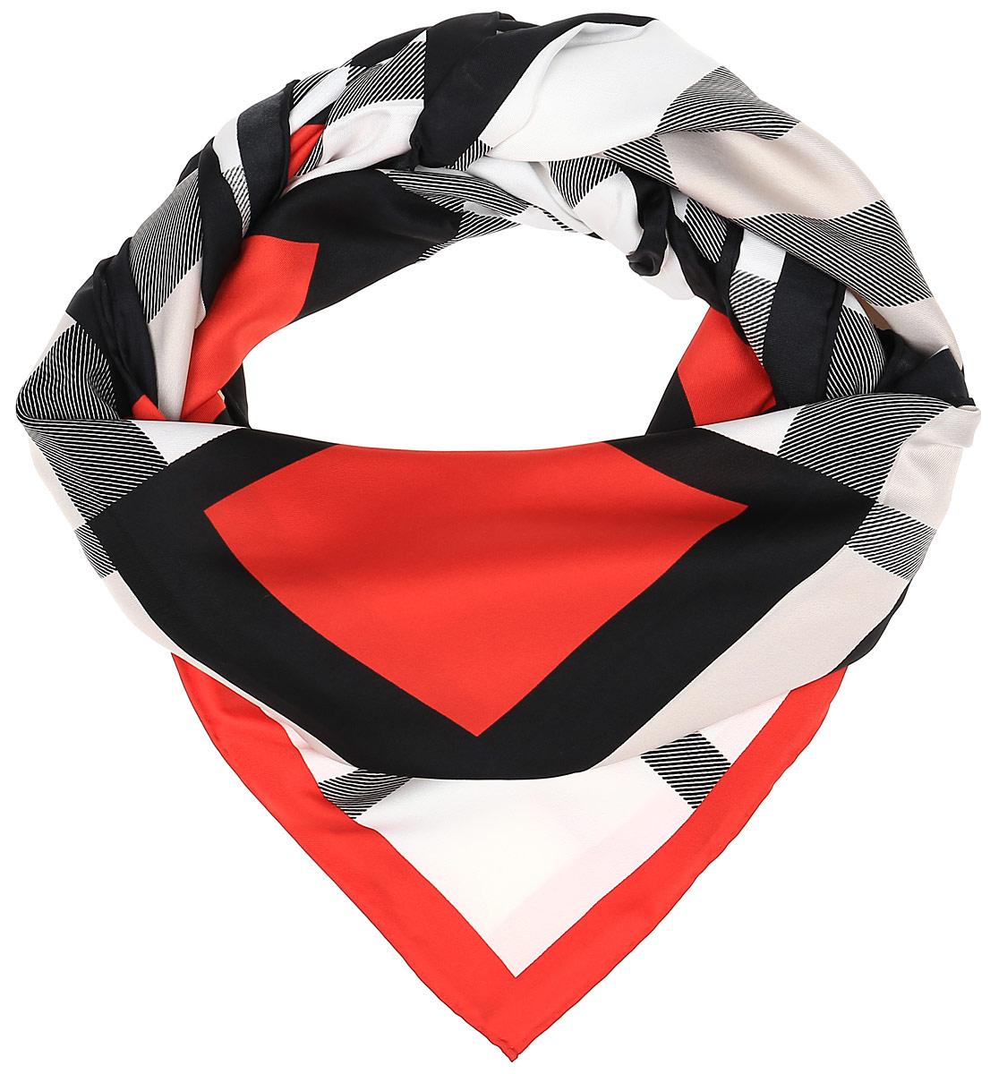 72ПЛ_120х120_442Очаровательный женский платок Sabellino станет великолепным завершением любого наряда. Платок изготовлен из высококачественного полиэстера с добавлением шелка и оформлен оригинальным принтом в клетку. Классическая квадратная форма позволяет носить платок на шее, украшать им прическу или декорировать сумочку.