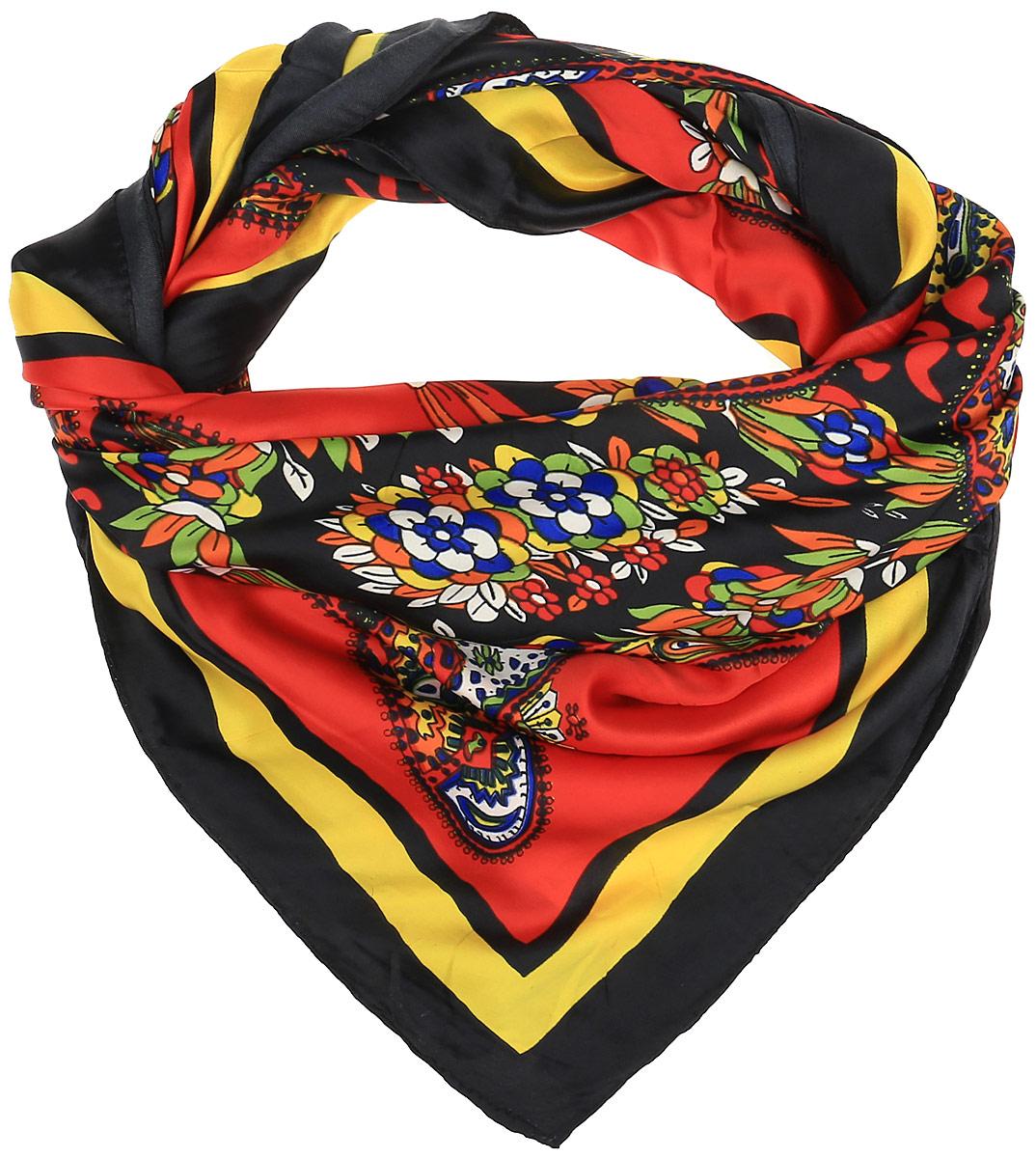 0510115236_03Очаровательный женский платок Sabellino станет великолепным завершением любого наряда. Платок изготовлен из высококачественного полиэстера и оформлен оригинальным цветочным принтом. Классическая квадратная форма позволяет носить платок на шее, украшать им прическу или декорировать сумочку.