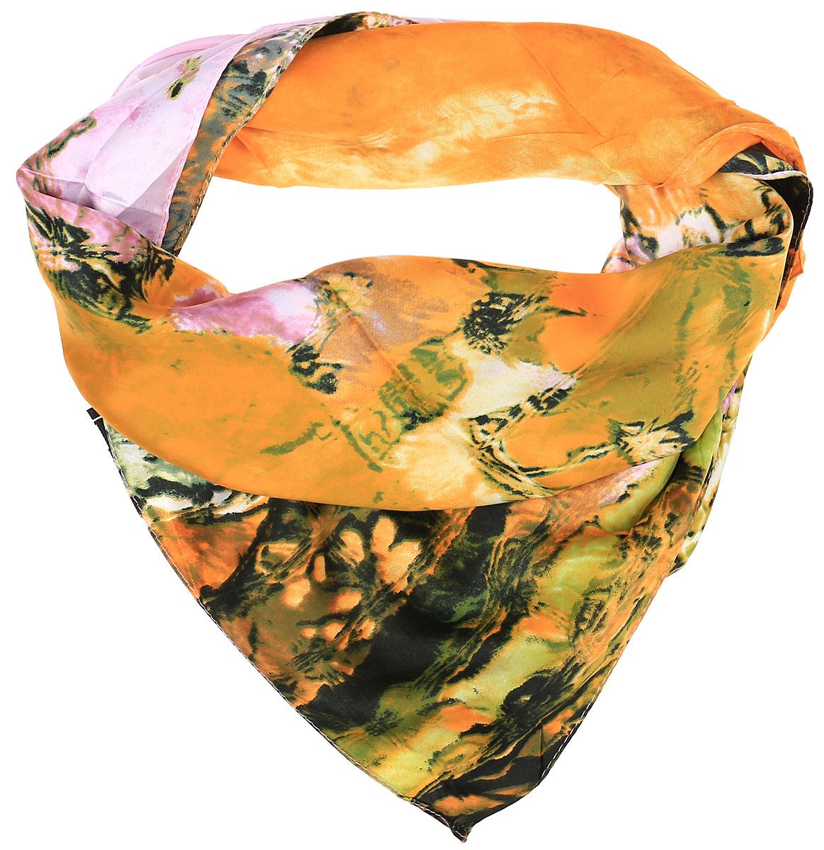 0510115246_54Очаровательный женский платок Sabellino станет великолепным завершением любого наряда. Платок изготовлен из высококачественного полиэстера и оформлен оригинальным цветочным принтом. Классическая квадратная форма позволяет носить платок на шее, украшать им прическу или декорировать сумочку.