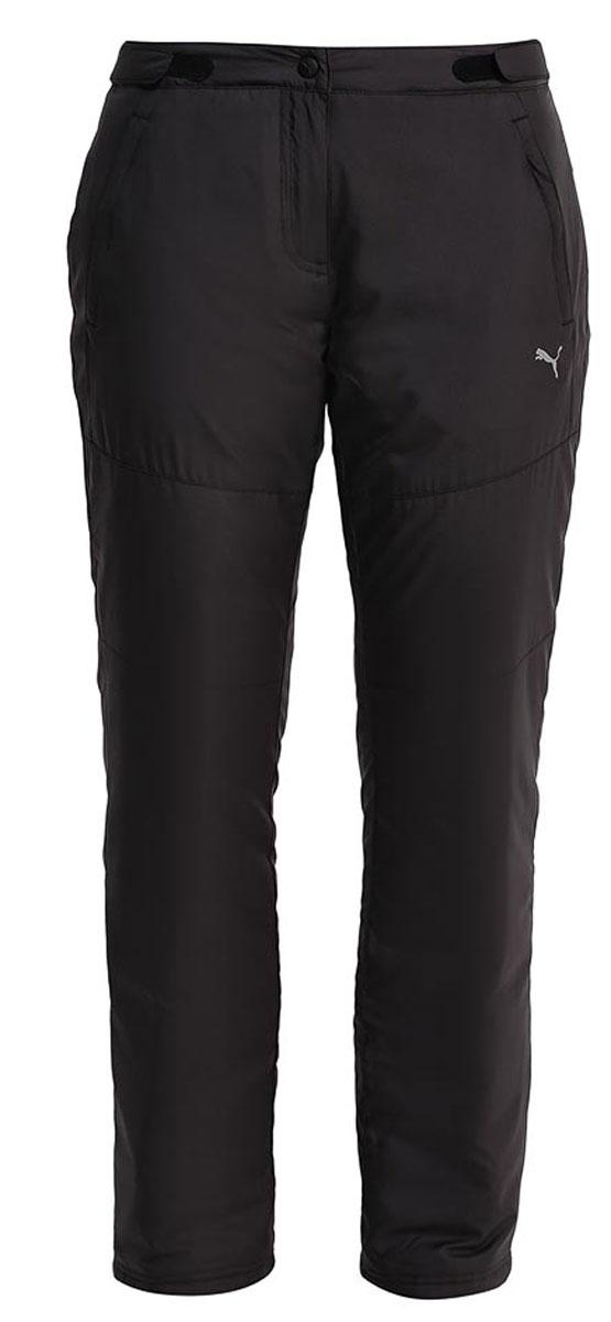 Брюки утепленные591381_01Утепленные женские брюки Puma Winter Padded Pants W выполнены из матового текстиля и утеплены синтепоном. Модель прямого кроя. Брюки застегиваются на застежку-молнию и кнопку в поясе. Пояс дополнен регулируемыми хлястиками с липучками. Модель оформлена двумя боковыми карманами на молниях и внутренними кулисками по низу.