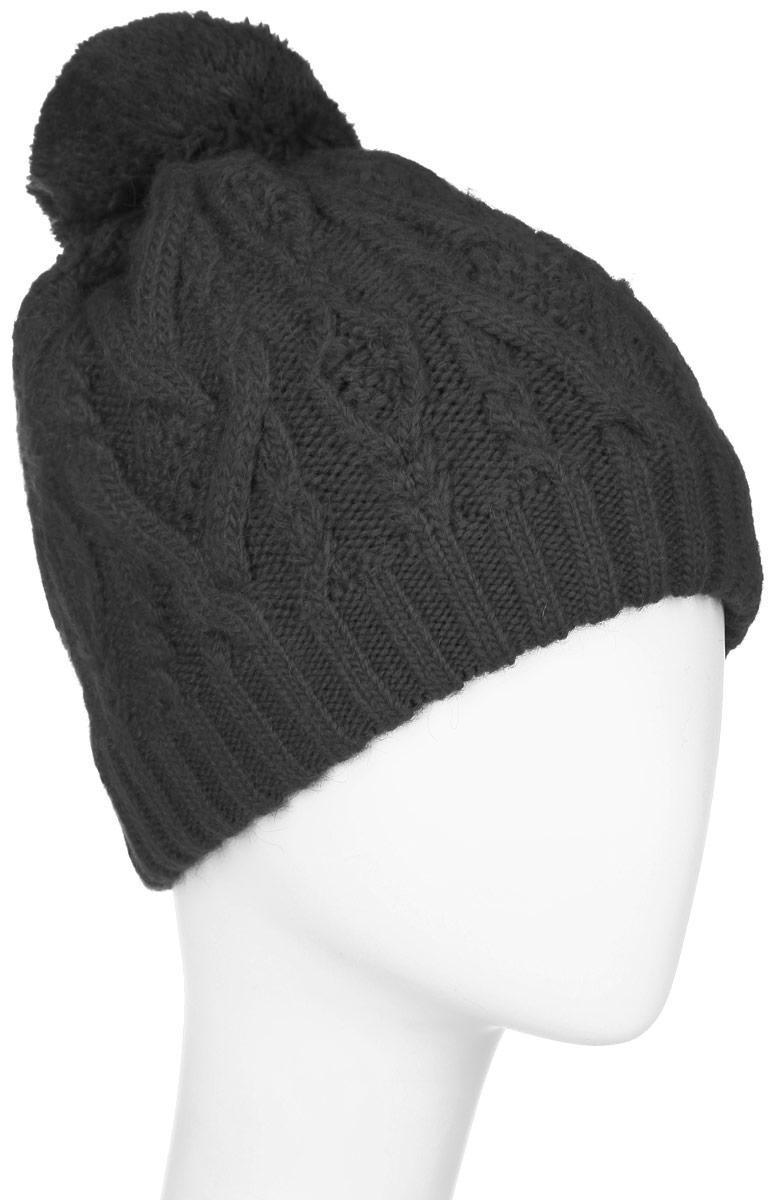 W16-11120_204Стильная женская шапка Finn Flare дополнит ваш наряд и не позволит вам замерзнуть в холодное время года. Шапка выполнена из высококачественной пряжи, что позволяет ей великолепно сохранять тепло и обеспечивает высокую эластичность и удобство посадки. Модель оформлена брендовой металлической пластиной и дополнена пушистым помпоном.