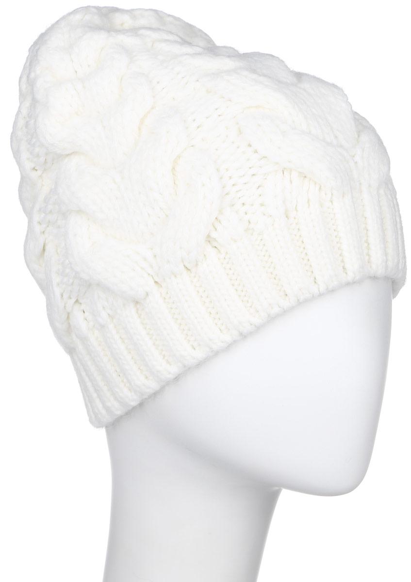 W16-32125_623Стильная женская шапка Finn Flare дополнит ваш наряд и не позволит вам замерзнуть в холодное время года. Шапка выполнена из высококачественной пряжи, что позволяет ей великолепно сохранять тепло и обеспечивает высокую эластичность и удобство посадки. Модель оформлена металлической брендовой нашивкой.