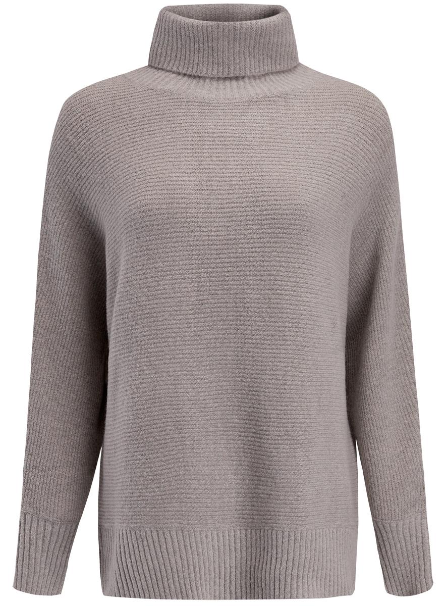 Свитер74407105/46102/4000NЖенский свитер выполнен из высококачественной пряжи. Модель с воротником-гольф и длинными цельнокроеными рукавами.