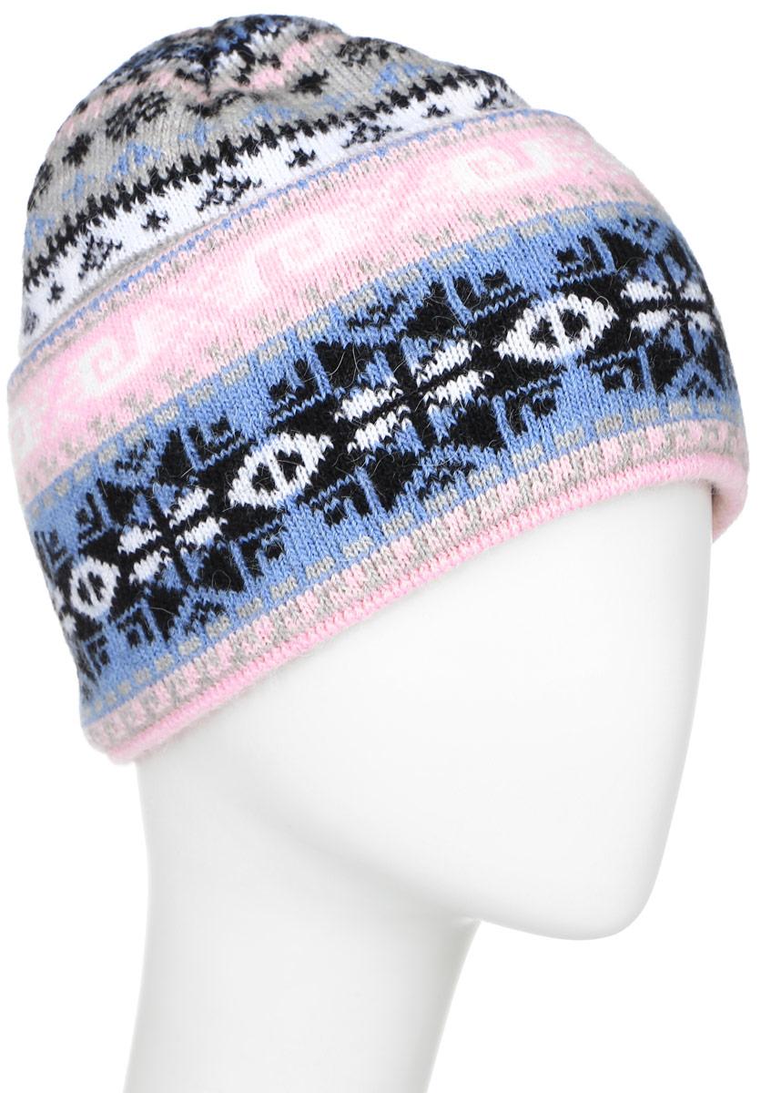 ШапкаW16-12119_200Стильная женская шапка Finn Flare дополнит ваш наряд и не позволит вам замерзнуть в холодное время года. Шапка выполнена из высококачественной пряжи, что позволяет ей великолепно сохранять тепло и обеспечивает высокую эластичность и удобство посадки. Модель связана узорами и оформлена брендовой металлической пластиной.