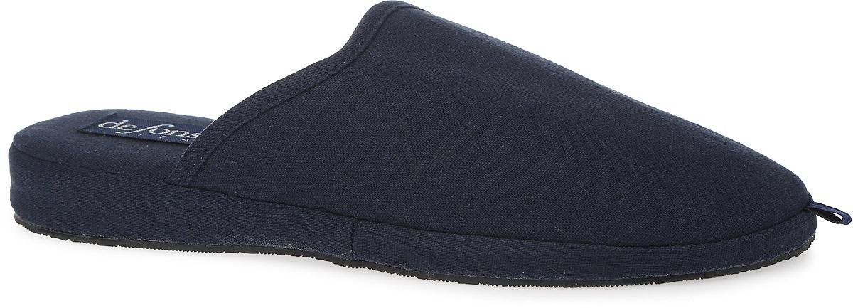 BASIC-U-61Мужские тапки от De Fonseca выполнены из текстильного материала. Стелька и внутренний материал из мягкого текстиля обеспечат уют и тепло. Резиновая подошва оснащена рифлением.