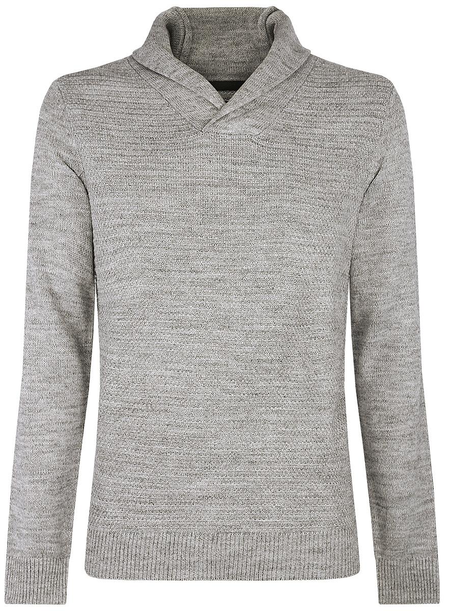 Пуловер4L210006M/25700N/2000MСтильный мужской пуловер выполнен из акрила и шерсти. Модель с отложным воротником и длинными рукавами.