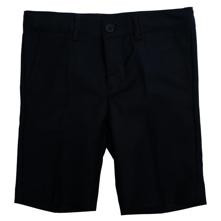 461006Стильные шорты в классическом стиле для мальчика. Модель прямого кроя со стрелками застегивается на молнию и пуговицу. Изделие дополнено тремя функциональными карманами: двумя втачными спереди и одним прорезным сзади. Имеются шлевки для ремня.