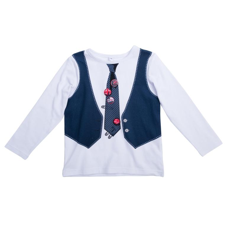 Футболка с длинным рукавом461010*Футболка с длинными рукавами * Украшена стильным принтом с имитацией жилета и галстука * Полноценный наряд в одном удобном изделии