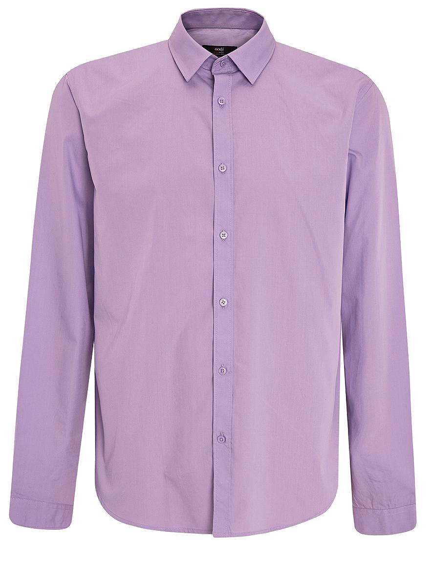 3B110012M/23286N/1000NСтильная мужская oodji Basic рубашка выполнена из натурального хлопка. Модель с отложным воротником и длинными рукавами застегивается на пуговицы спереди.