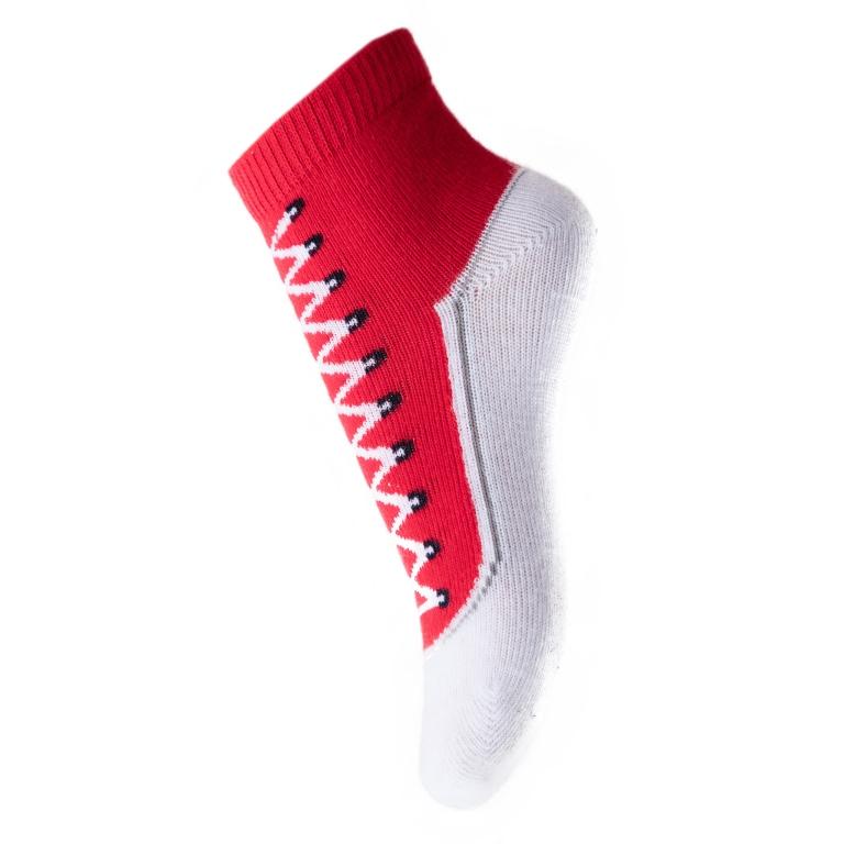 Носки467008Хлопковые носки. Украшены рисунком с имитацией ботинка. Верх на мягкой резинке.