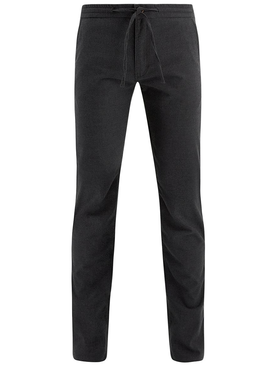 Брюки2L100078M/44436N/2500NСтильные мужские брюки oodji Lab выполнены из полиэстера с добавлением вискозы и полиуретана. Материал изделия мягкий и приятный на ощупь. Модель прямого кроя и стандартной посадки застегивается на пуговицу в поясе и ширинку на застежке-молнии. Пояс дополнен шнурком. Спереди брюки дополнены двумя втачными карманами, сзади - двумя прорезными карманами на пуговицах.