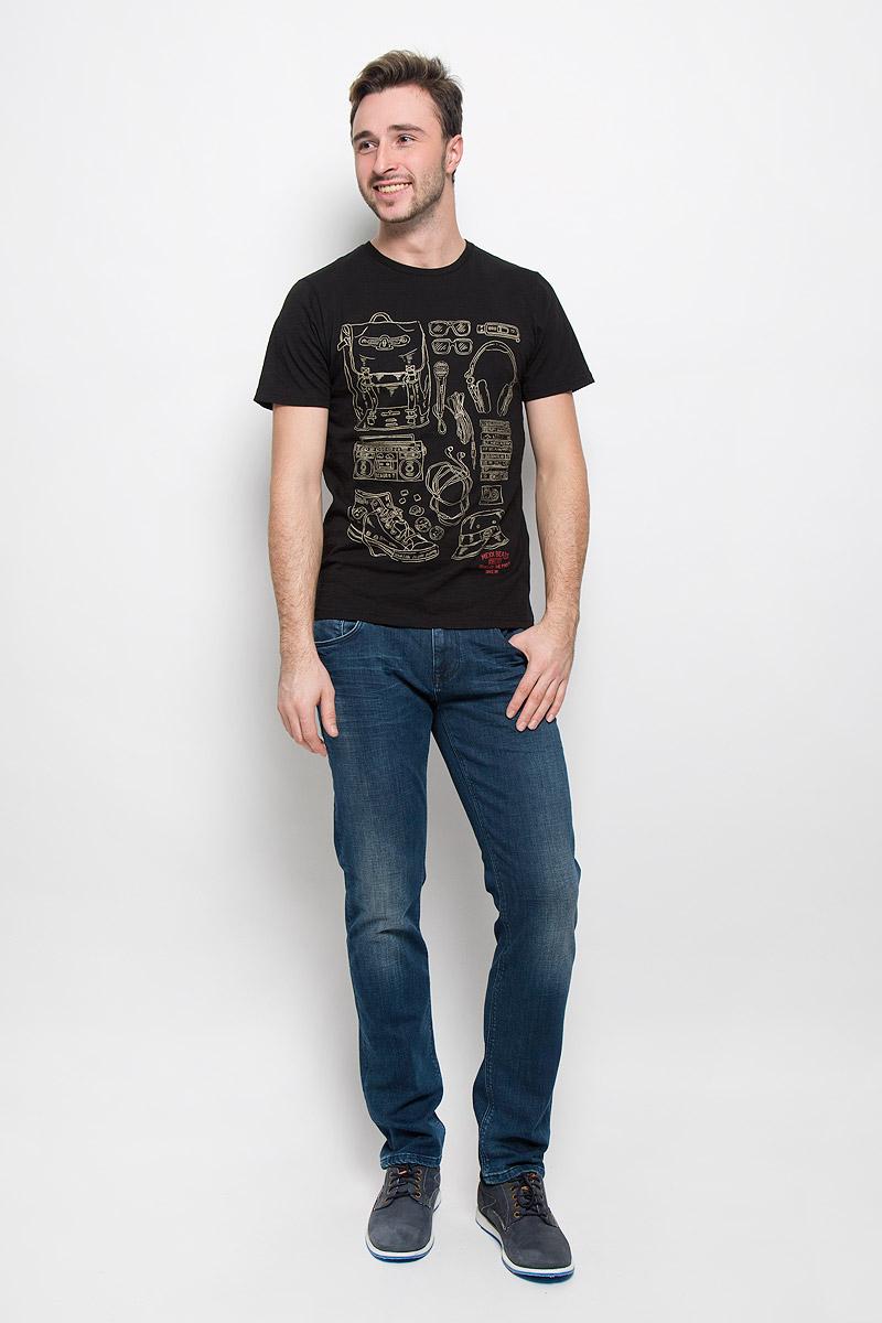 ФутболкаMX3024652_MN_TSS_008_001Мужская футболка выполнена из натурального хлопка. Горловина дополнена трикотажной резинкой. Спереди модель оформлена оригинальным принтом.